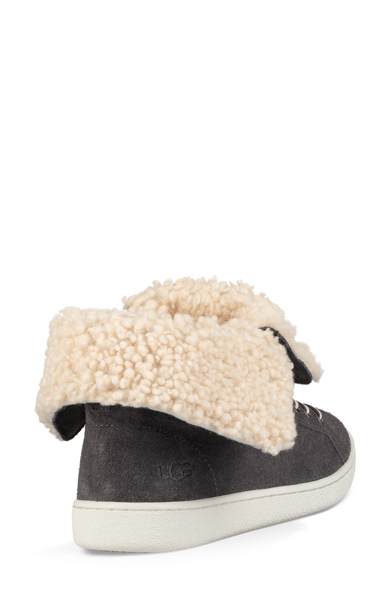 Starlyn Genuine Shearling Lined Boot,                             Alternate thumbnail 3, color,                             CHARCOAL