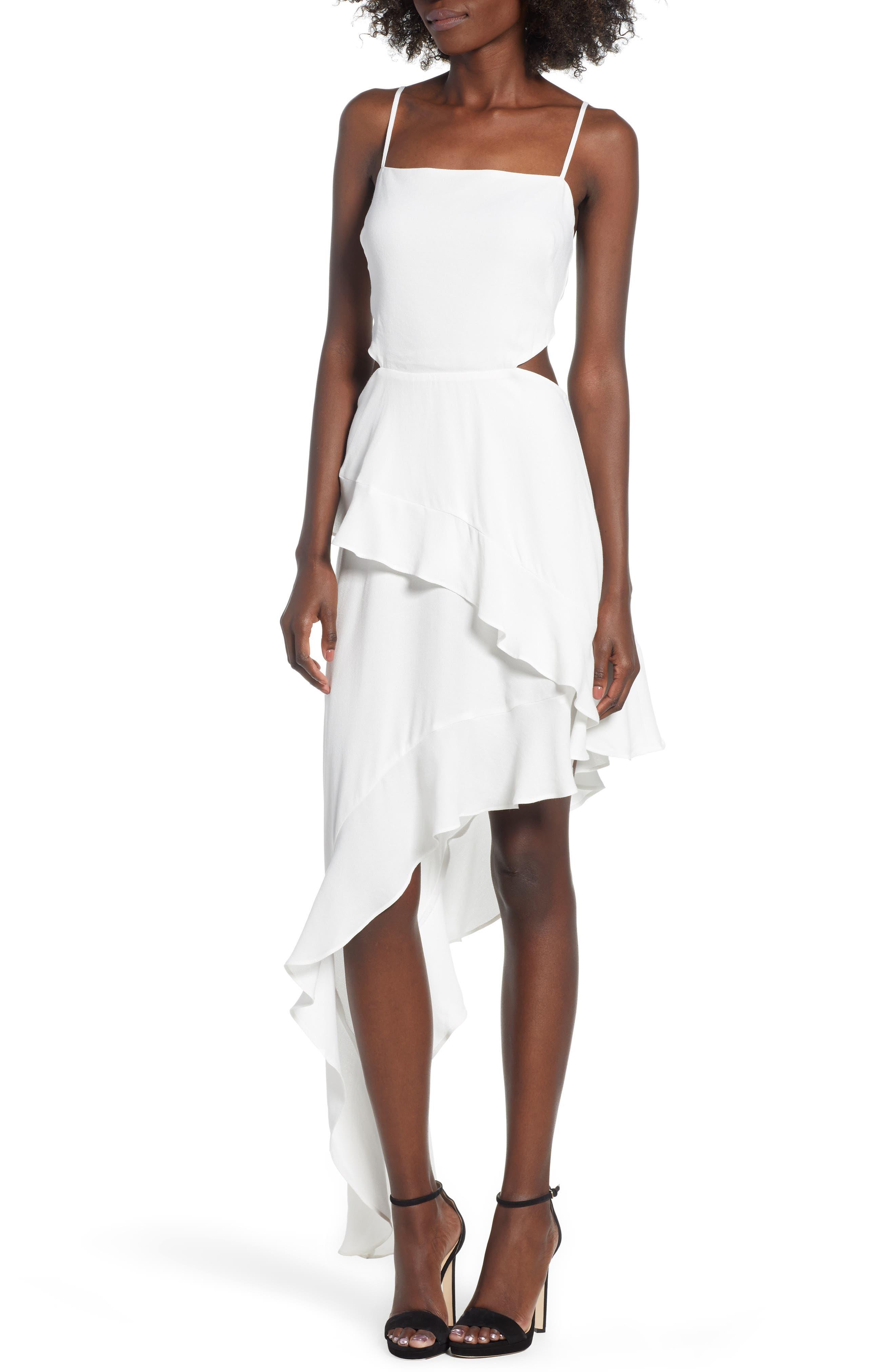 Cayli Asymmetrical Dress,                             Main thumbnail 1, color,                             100