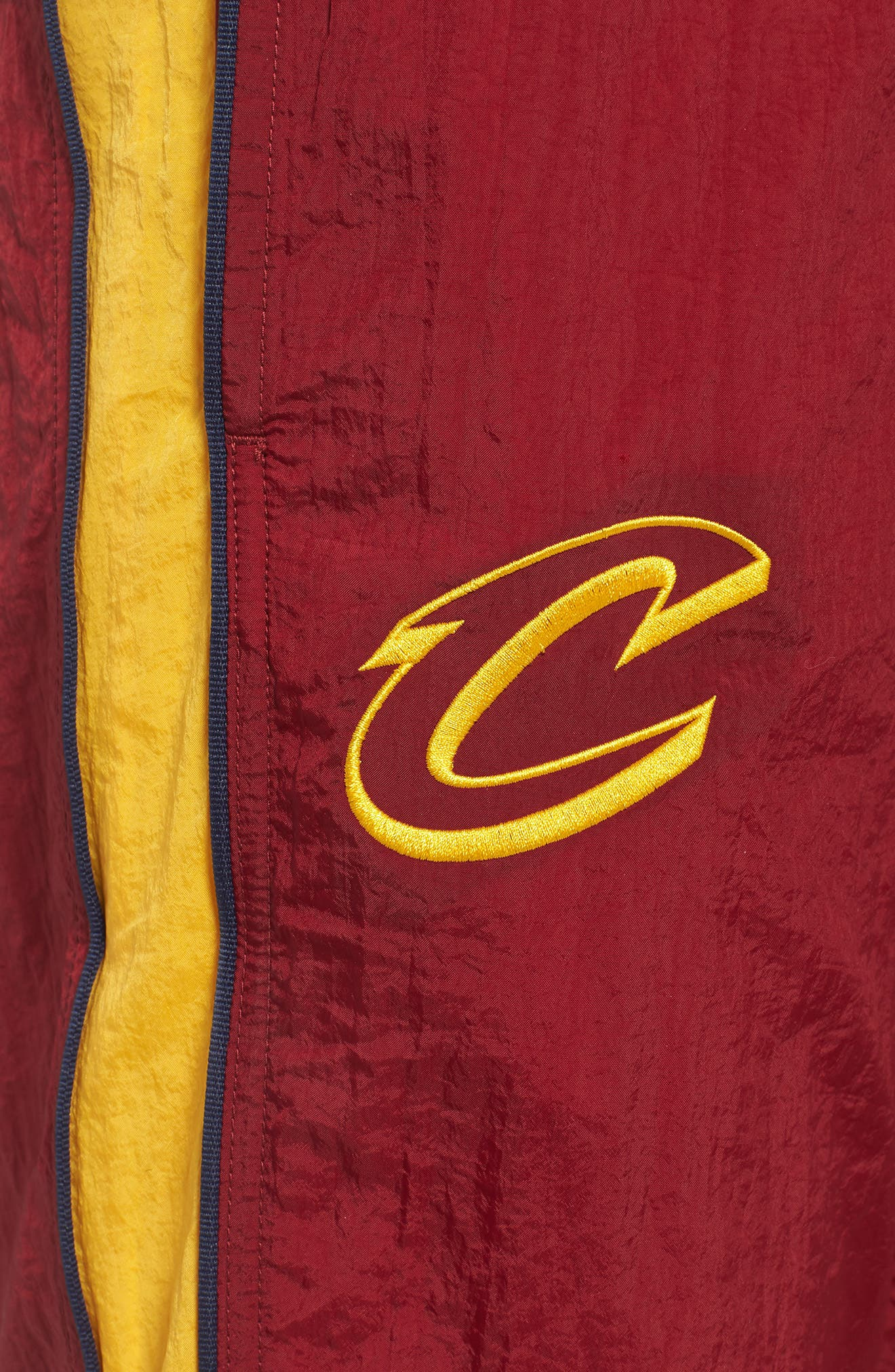 Cleveland Cavaliers Tracksuit Pants,                             Alternate thumbnail 4, color,                             TEAM RED/ UNIVERSITY GOLD