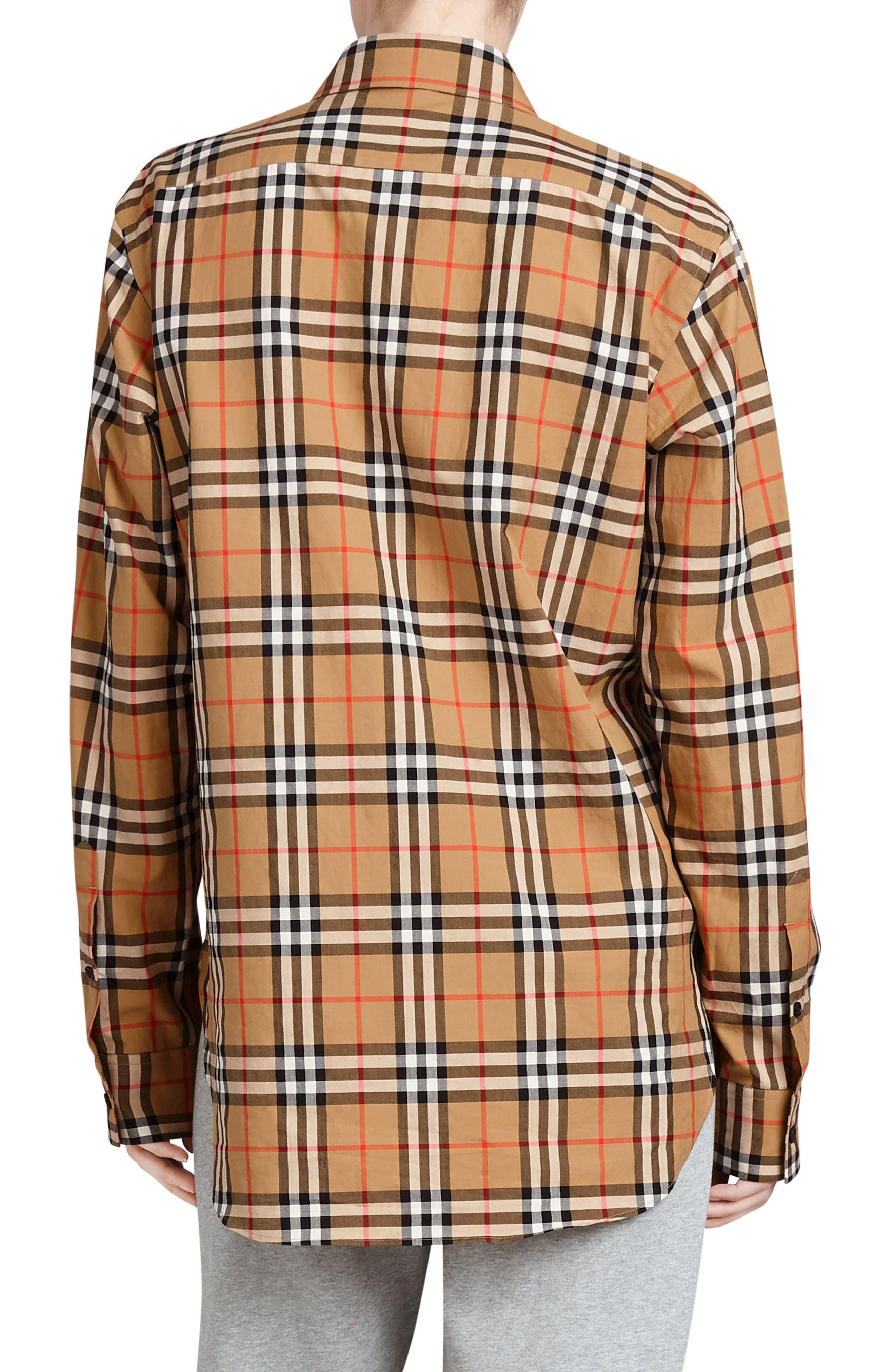 BURBERRY,                             Rainbow Check Shirt,                             Alternate thumbnail 2, color,                             254