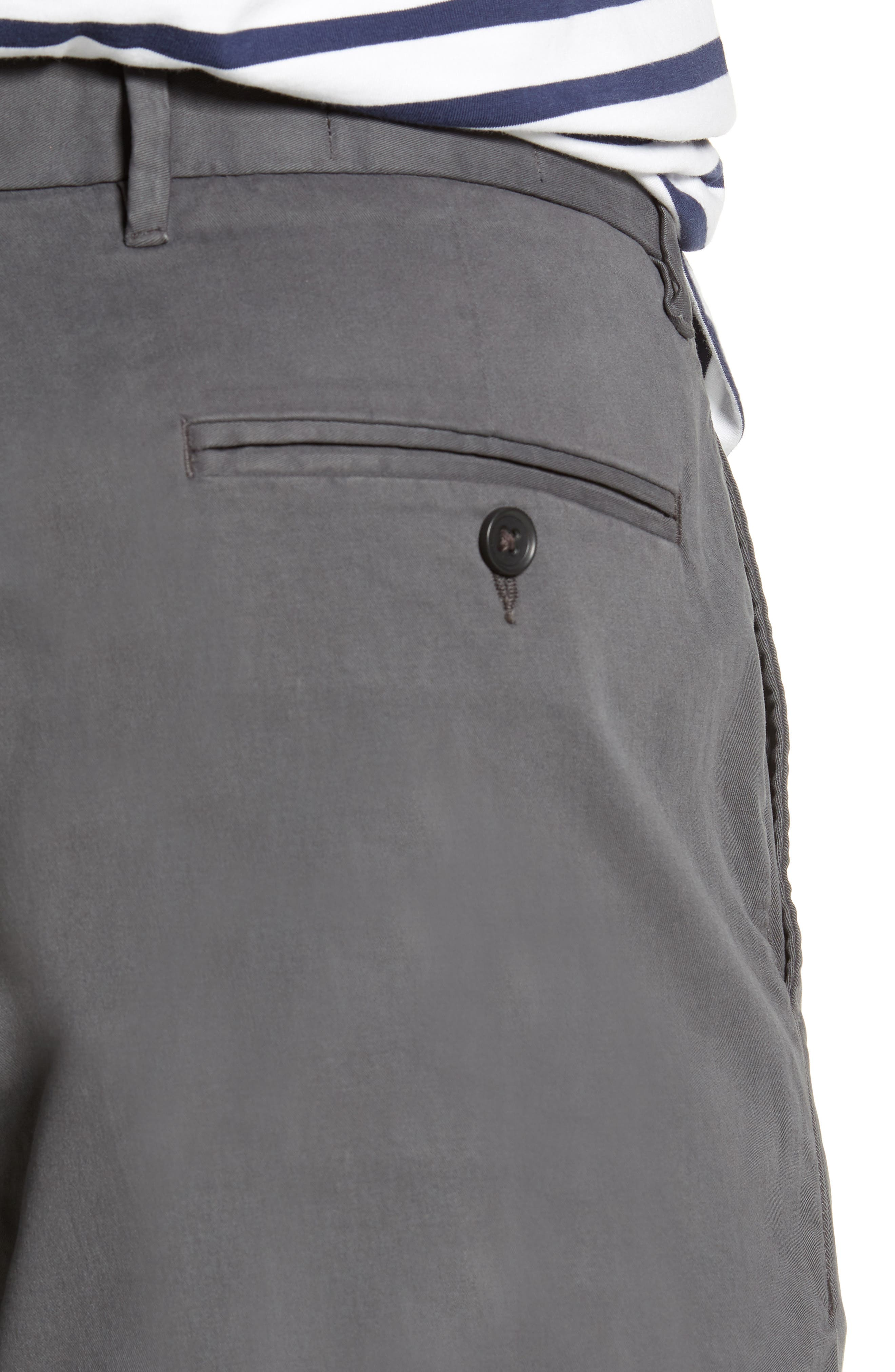Fremont Flat Front Slim Fit Stretch Chino Pants,                             Alternate thumbnail 4, color,                             GREY ONYX