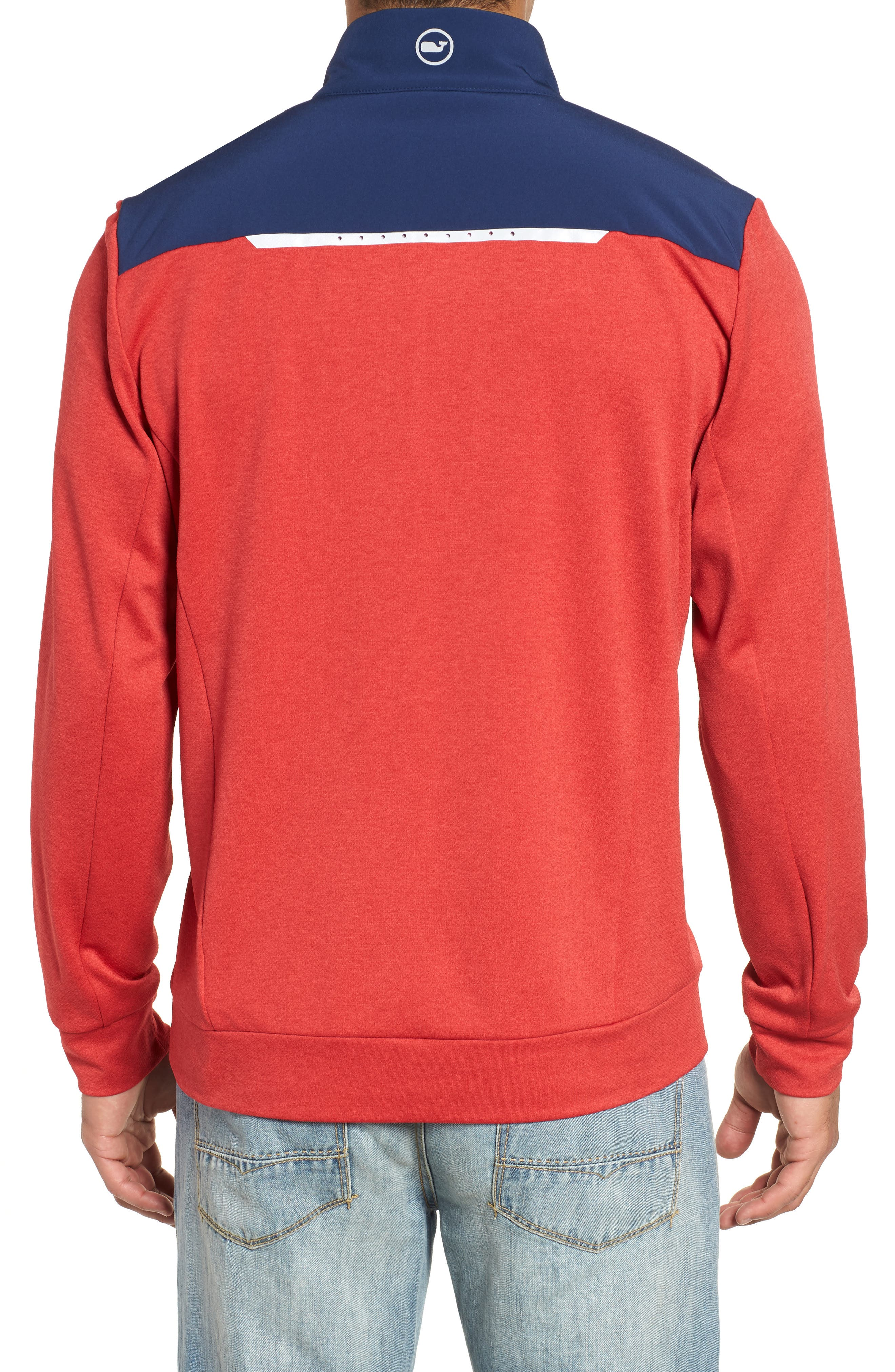 Performance Quarter Zip Pullover,                             Alternate thumbnail 5, color,