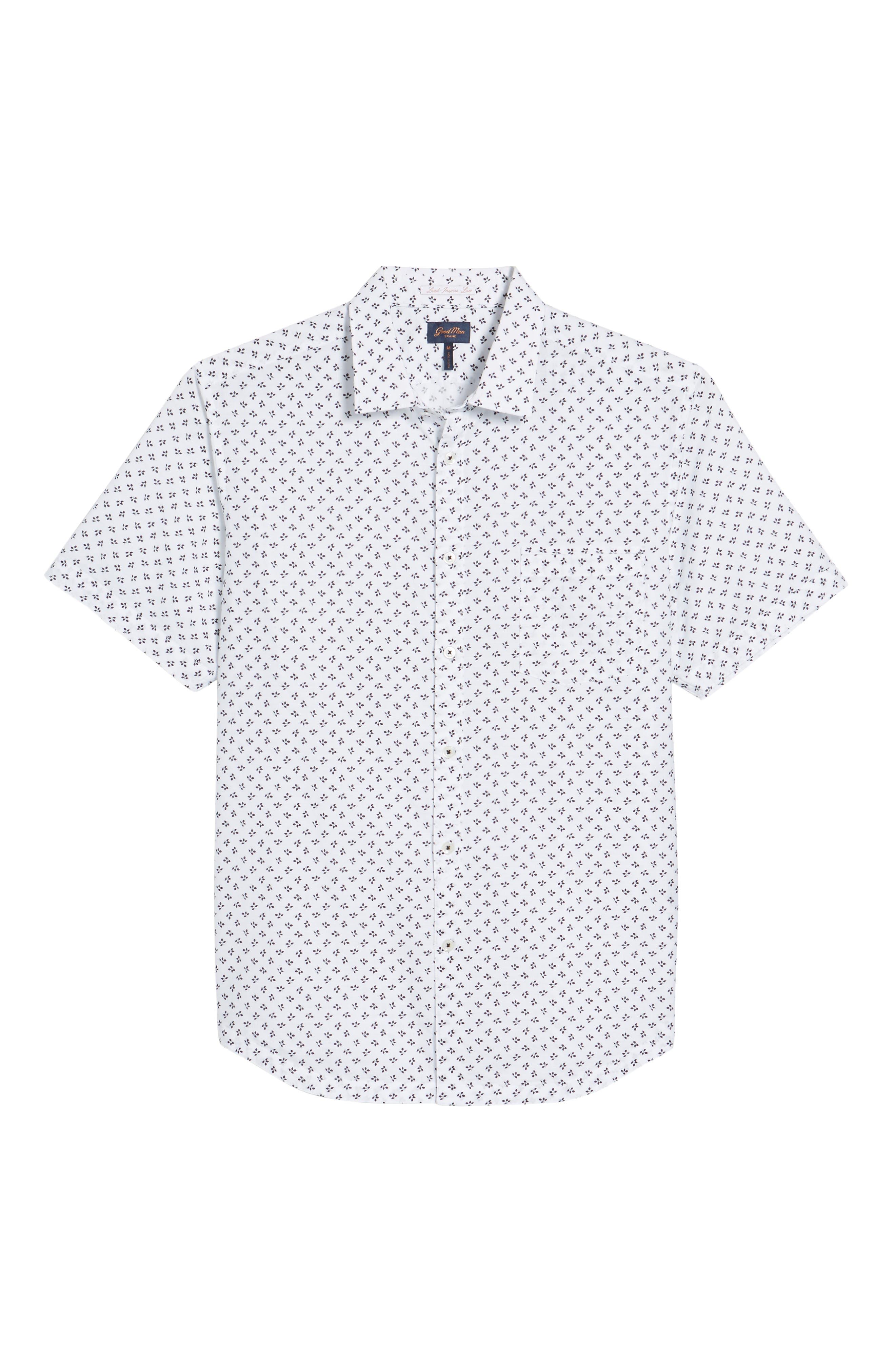 Trim Fit Print Sport Shirt,                             Alternate thumbnail 6, color,                             100