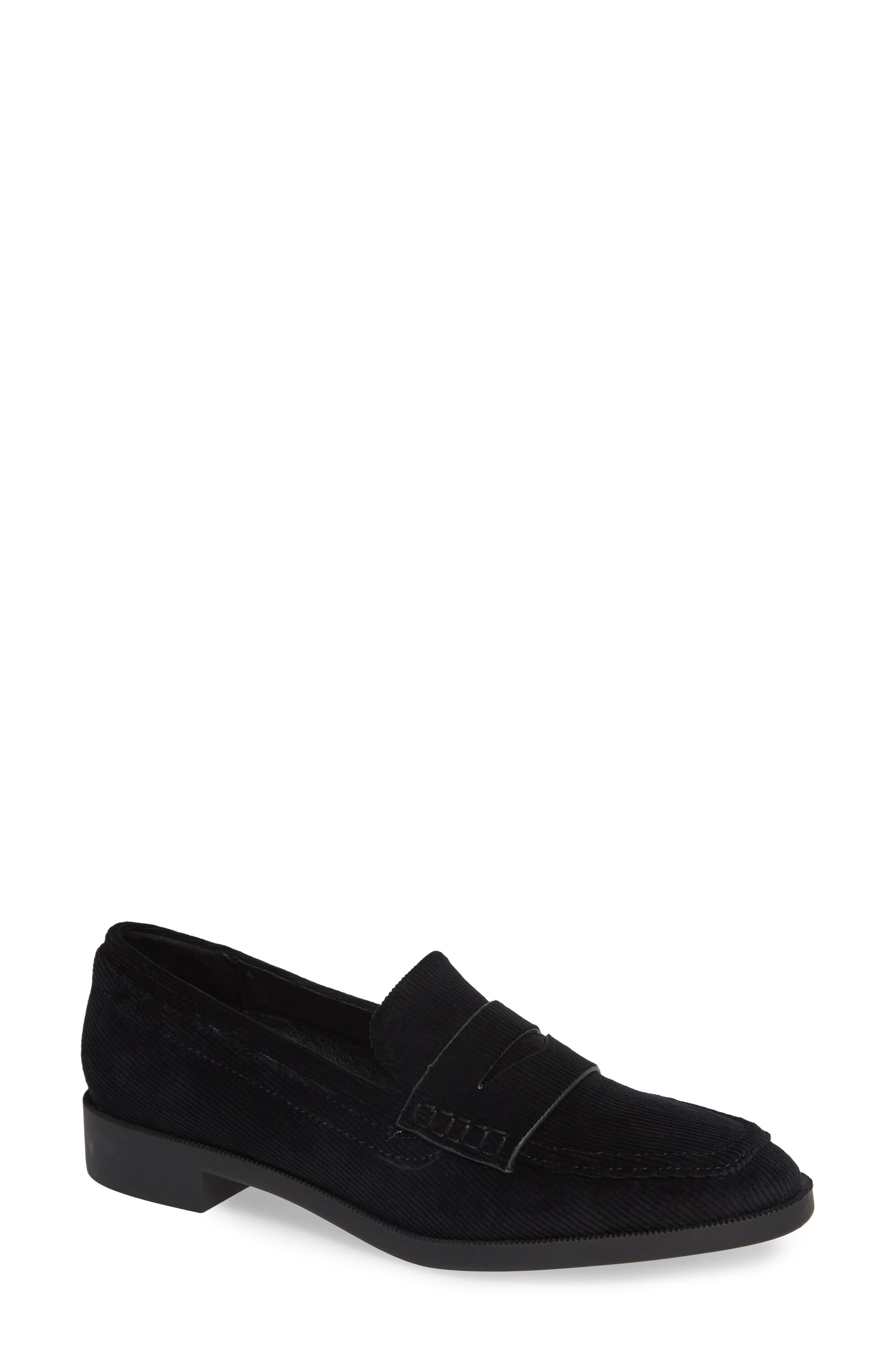Diplomat Penny Loafer,                             Main thumbnail 1, color,                             BLACK FABRIC