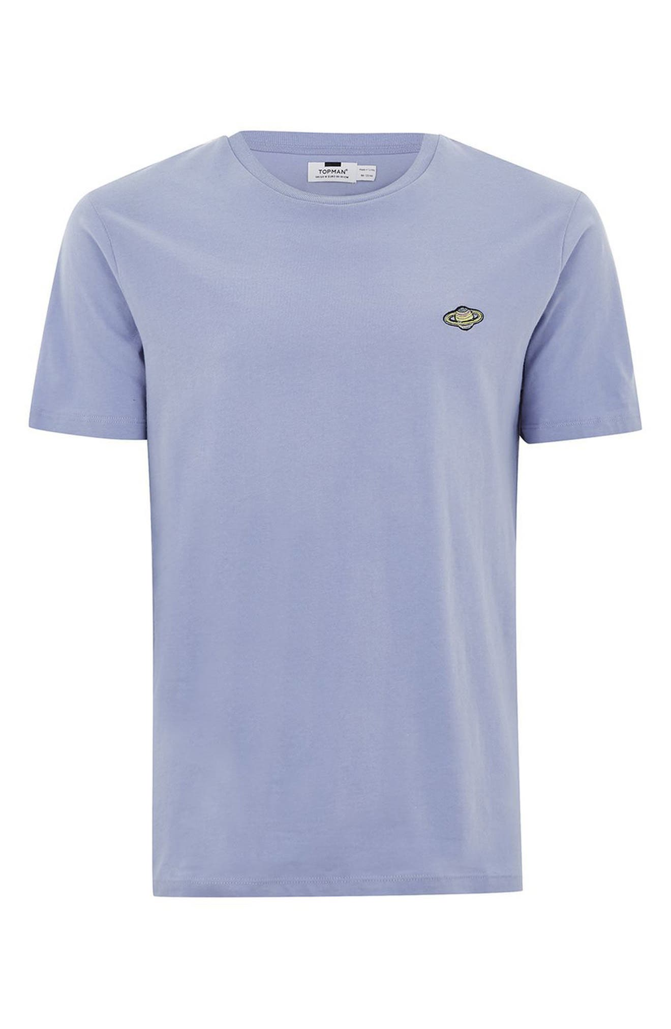 TOPMAN,                             Saturn Logo T-Shirt,                             Alternate thumbnail 4, color,                             530