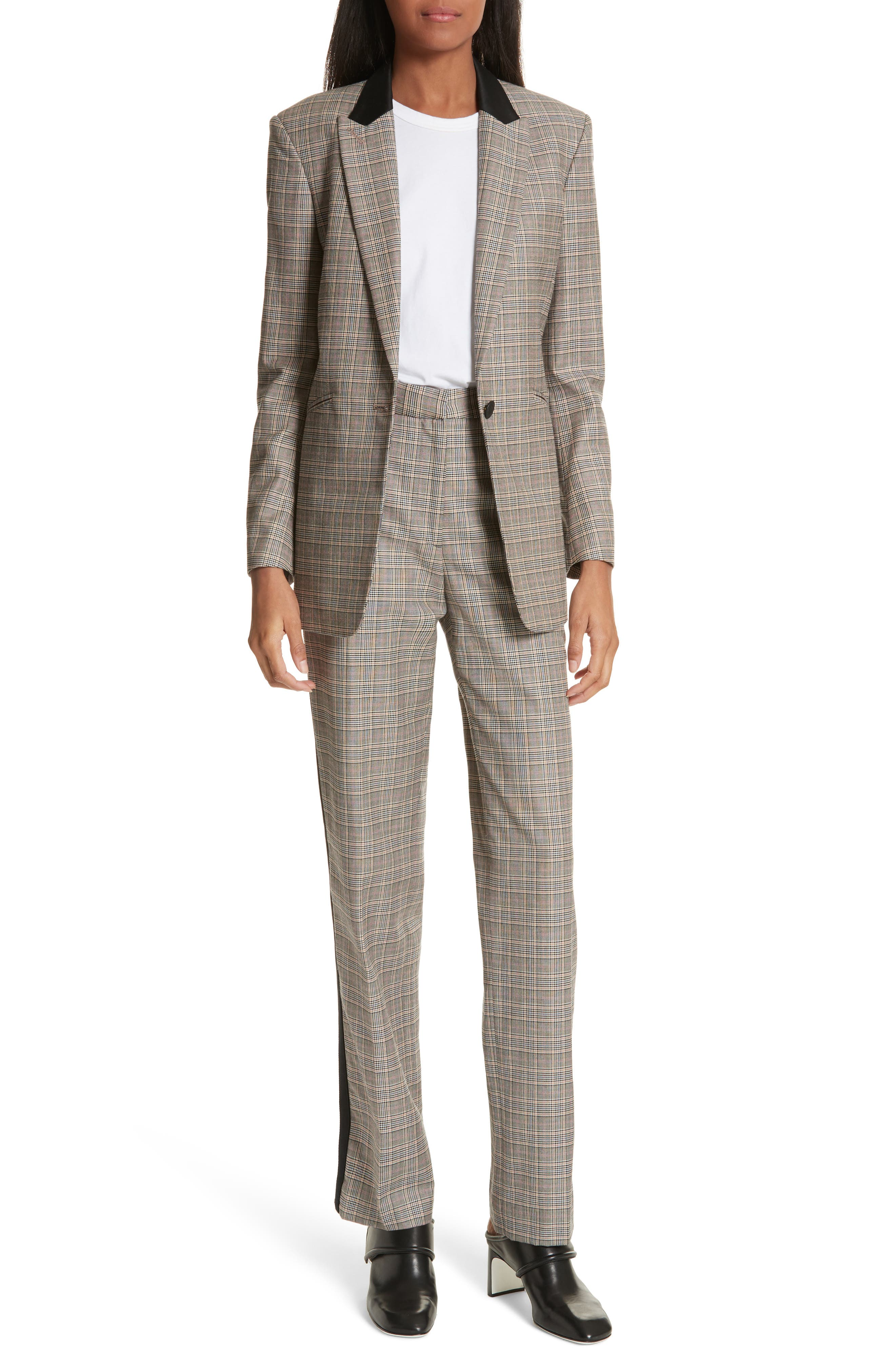 Oman Side Stripe Wool Blend Pants,                             Alternate thumbnail 7, color,                             017