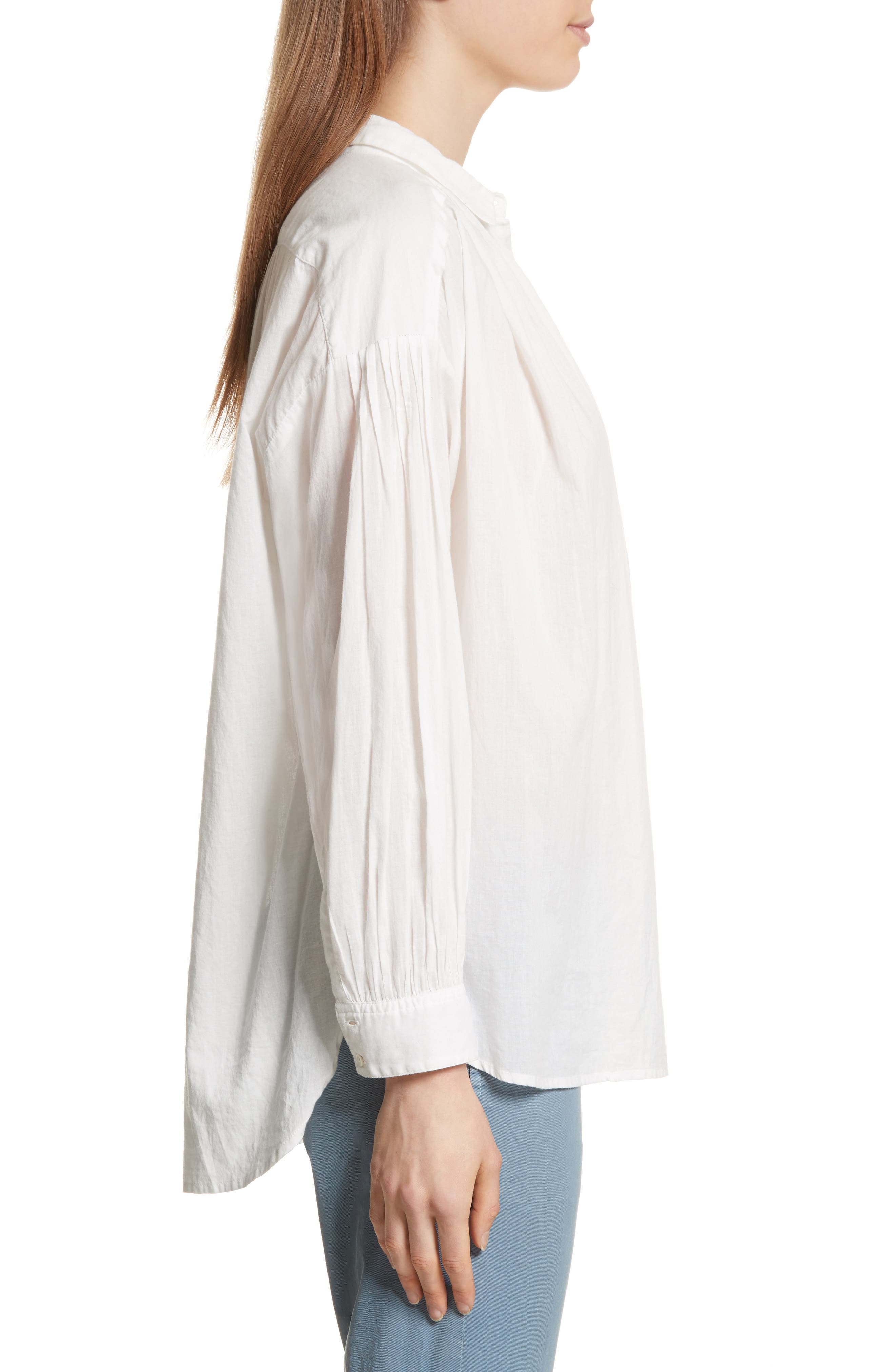 Miles Gathered Yoke Blouse,                             Alternate thumbnail 3, color,                             902
