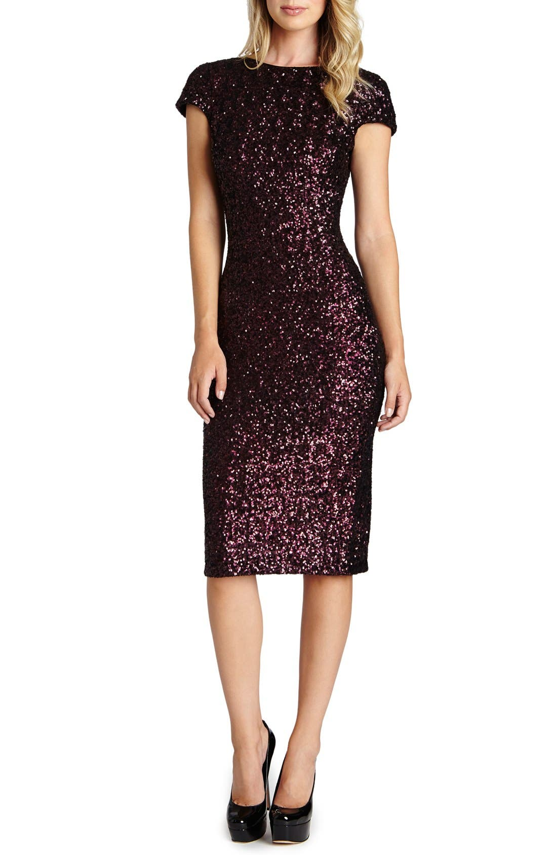 'Marcella' Open Back Sequin Body-Con Dress,                             Main thumbnail 4, color,