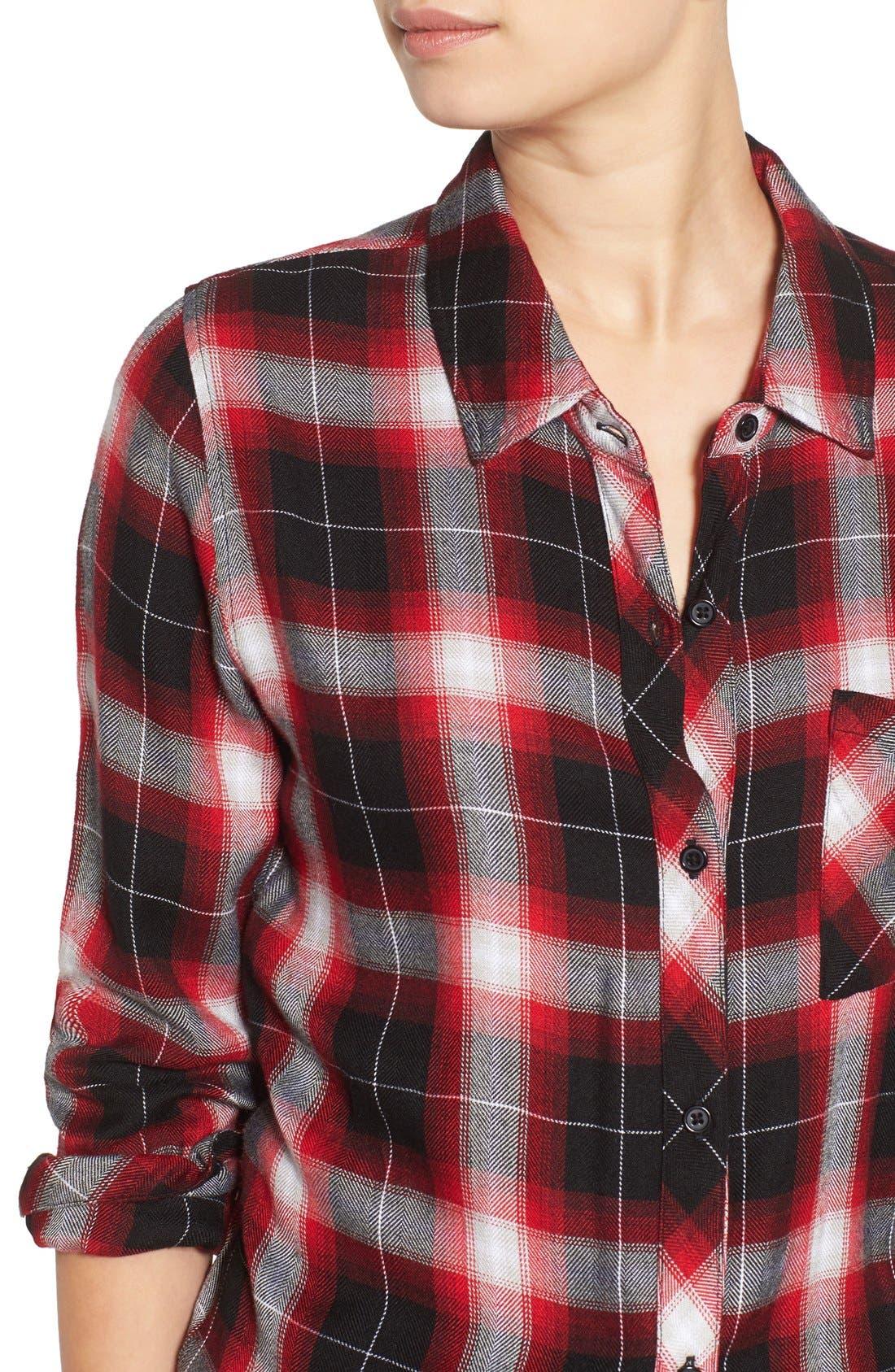 Hunter Plaid Shirt,                             Alternate thumbnail 538, color,