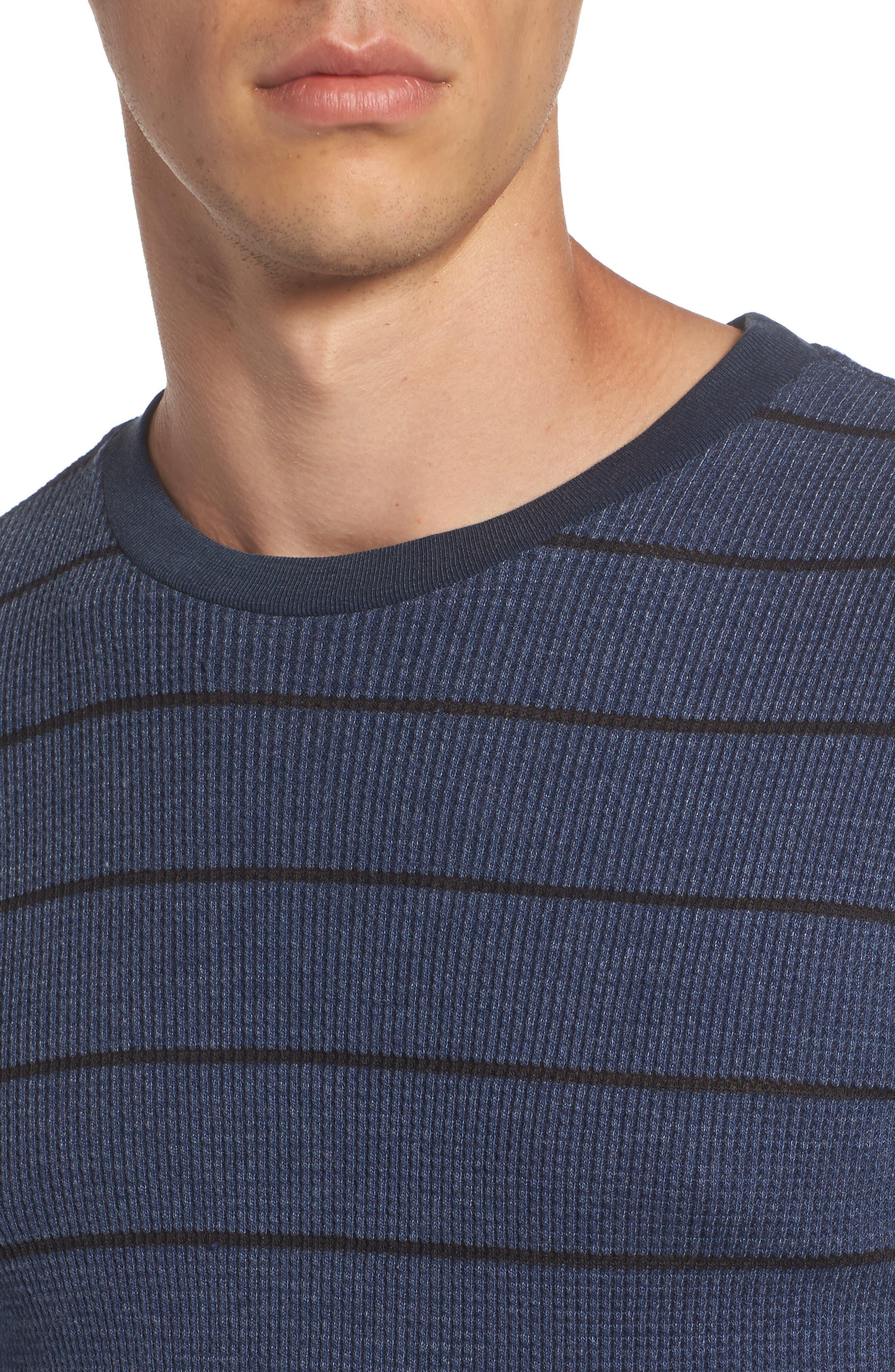 Neutral Stripe Thermal T-Shirt,                             Alternate thumbnail 8, color,