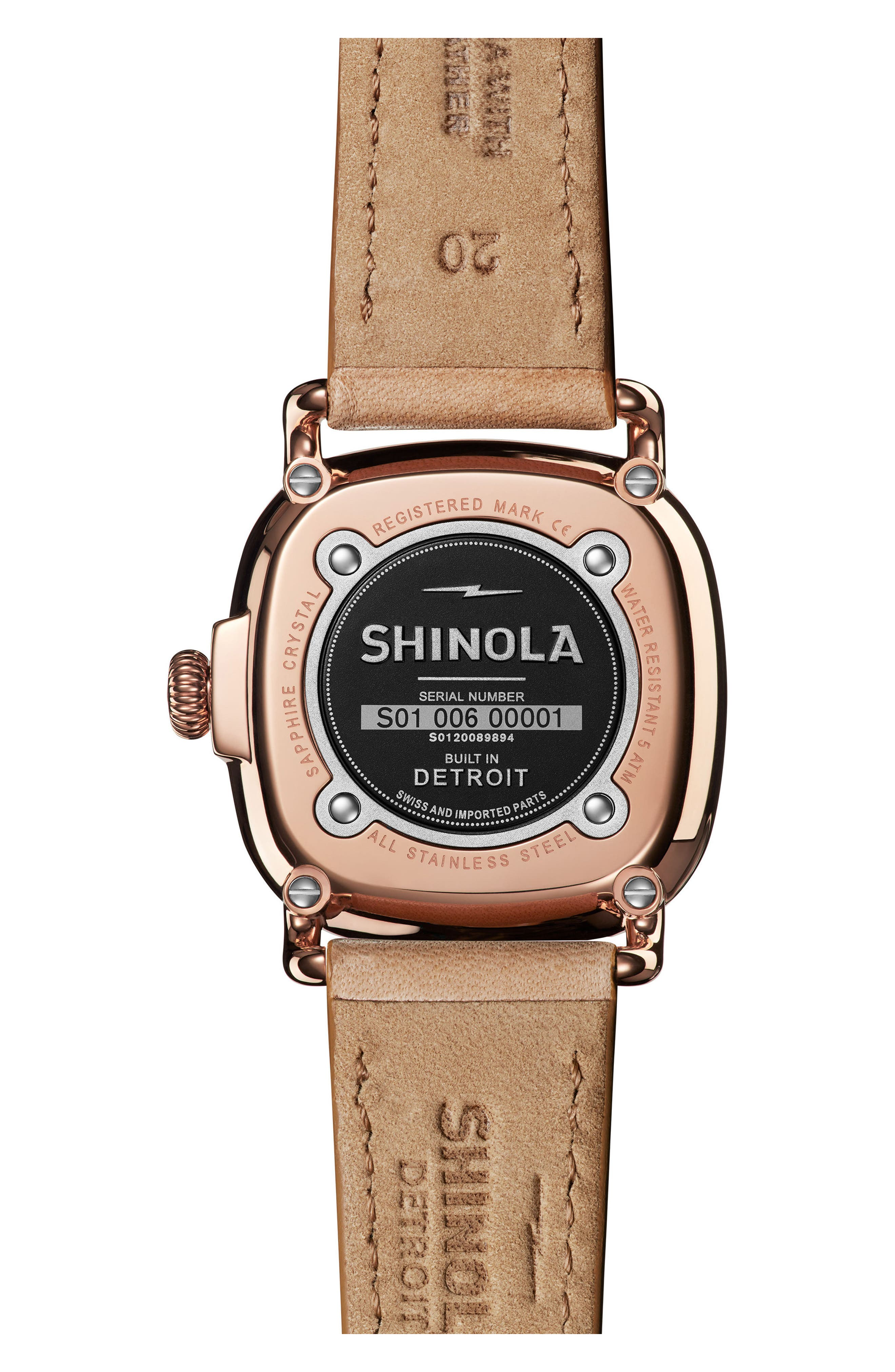 The Guardian Leather Strap Watch, 36mm,                             Alternate thumbnail 2, color,                             NATURAL/ MOP/ ROSE GOLD