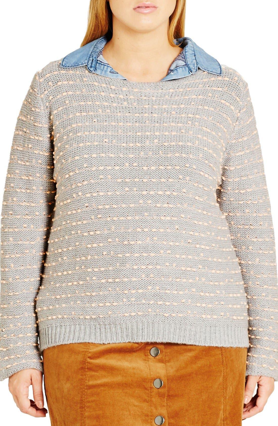 Back Zip Color Pop Sweater,                             Main thumbnail 1, color,                             080