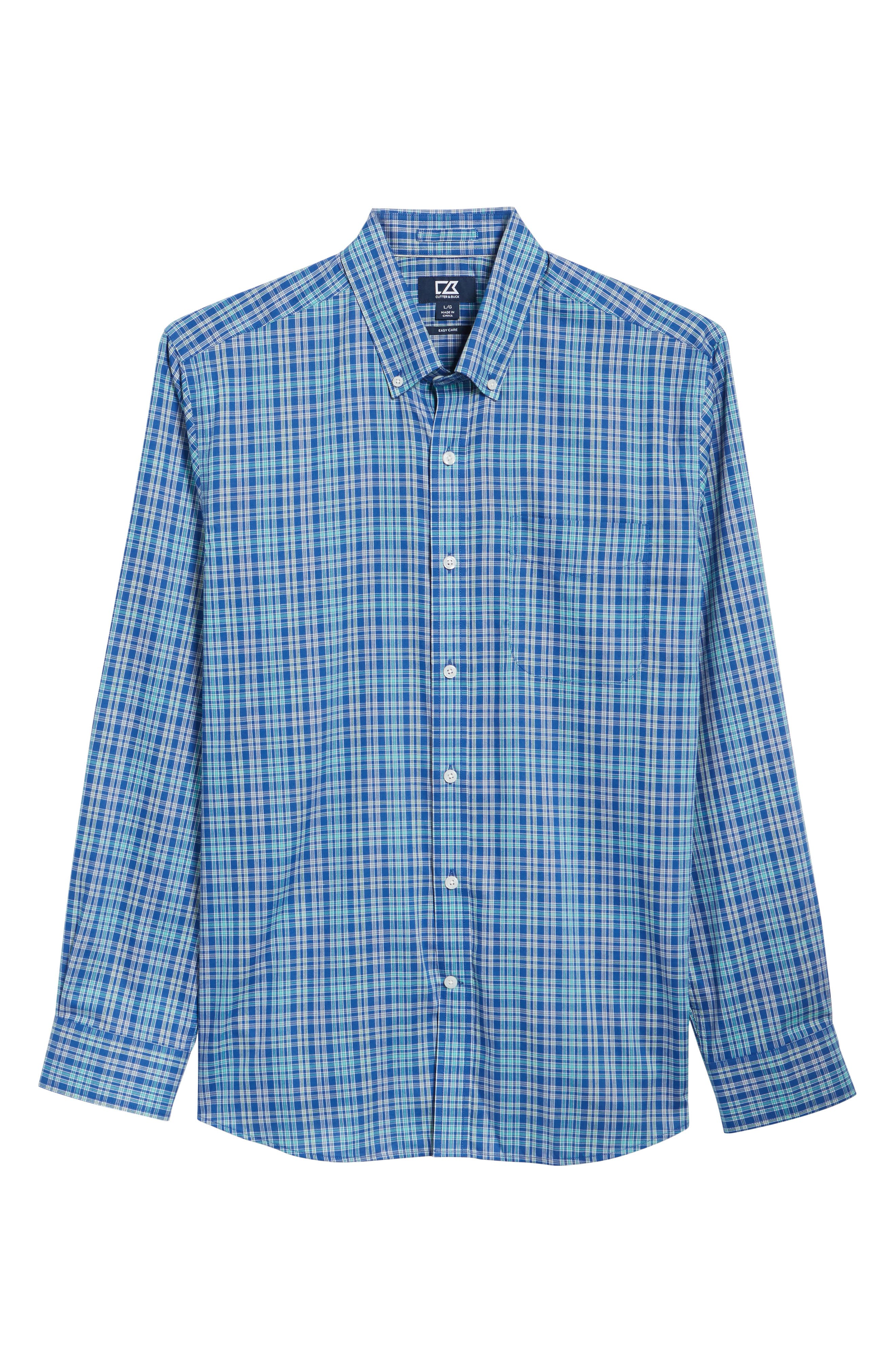 Charlie Easy Care Plaid Sport Shirt,                             Alternate thumbnail 6, color,                             419