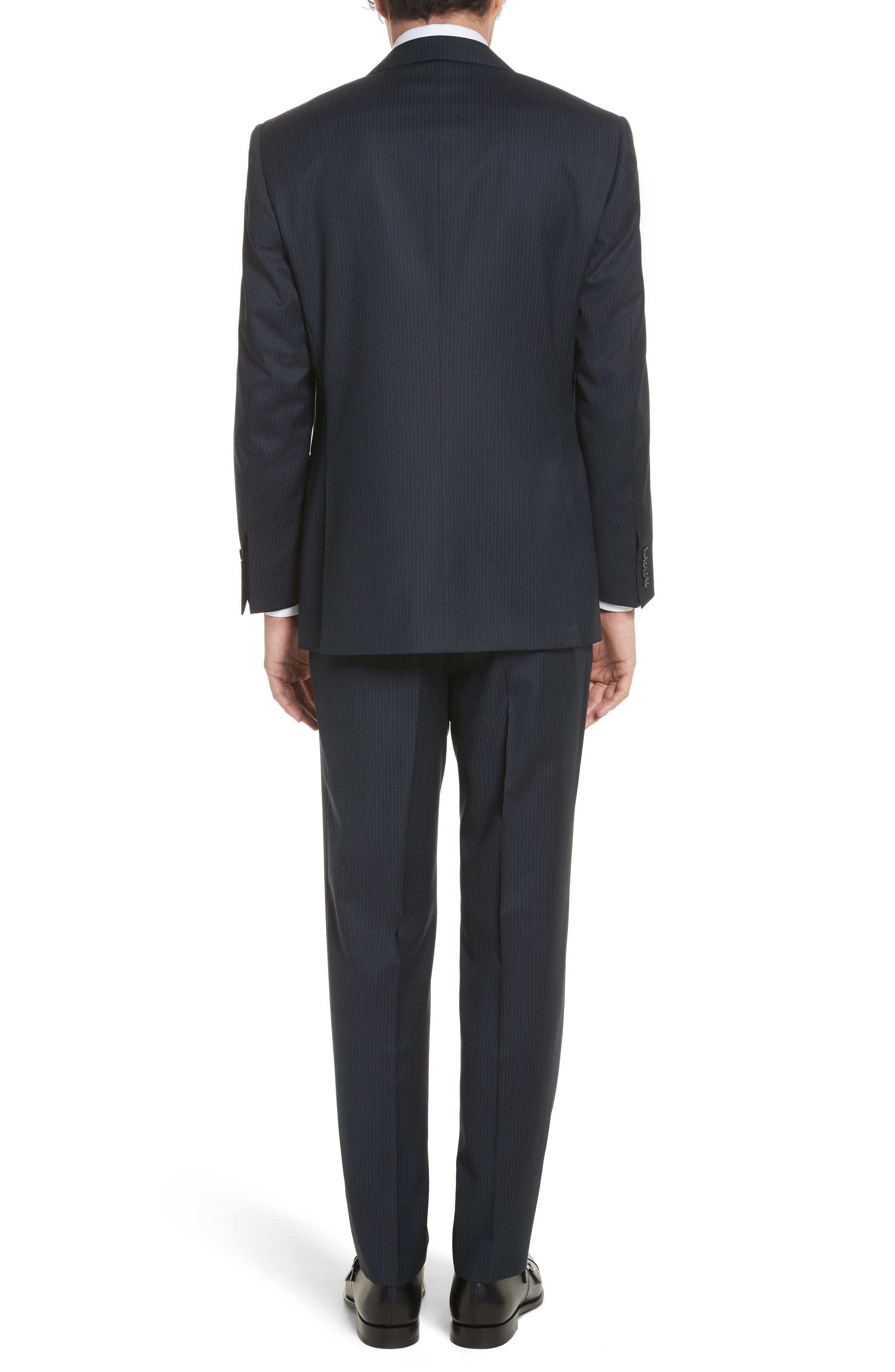 Classic Fit Stripe Wool Suit,                             Alternate thumbnail 2, color,                             410