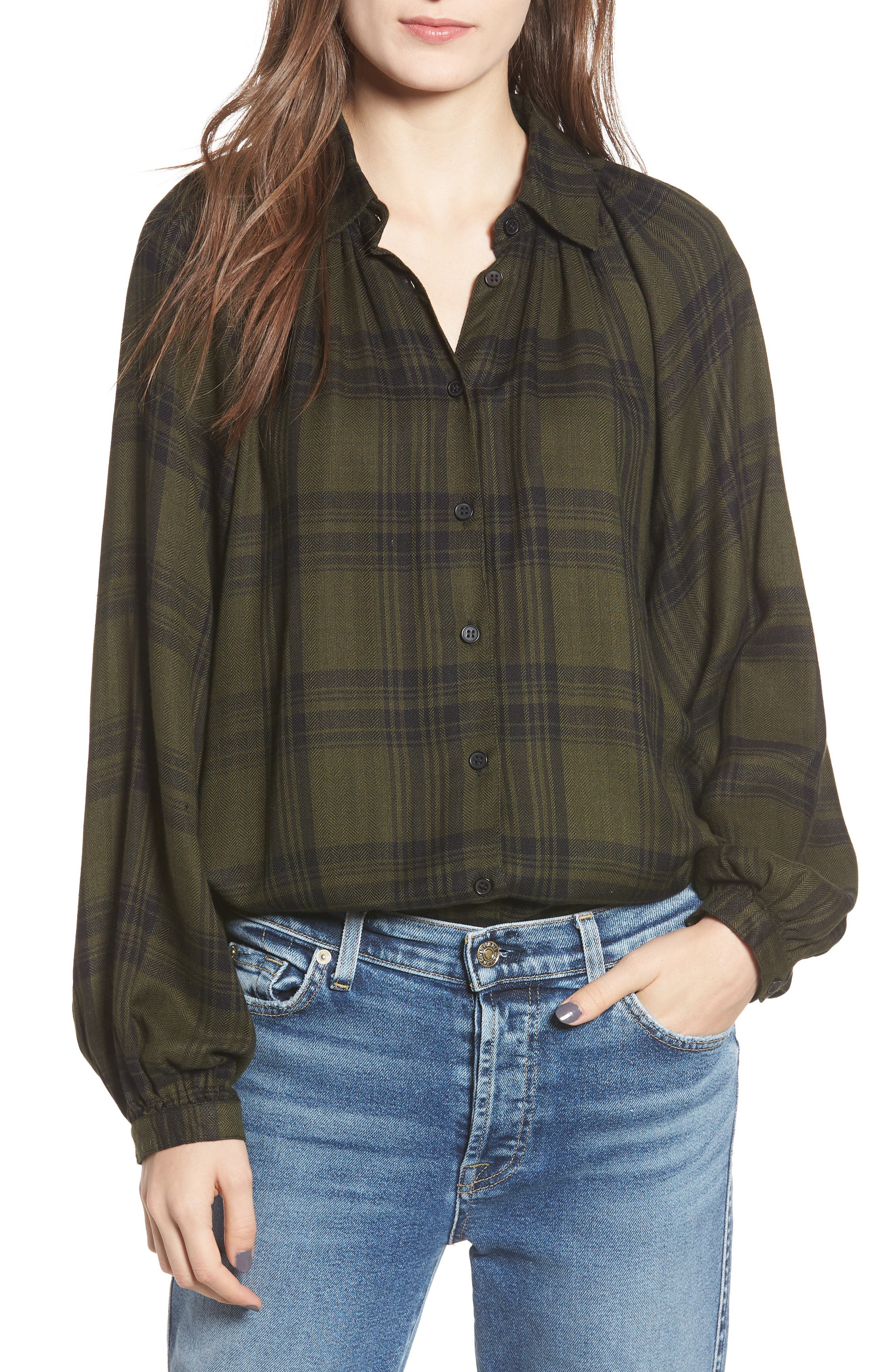 Fem Flannel Shirt,                             Main thumbnail 1, color,                             300
