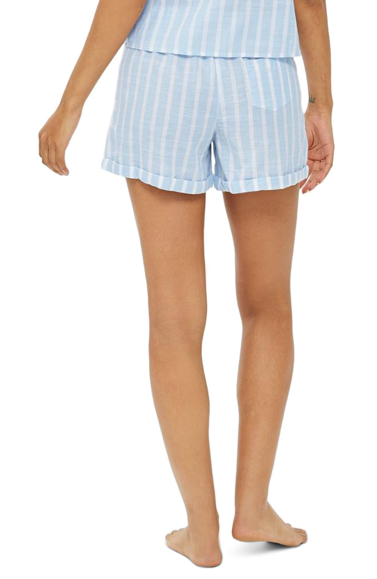 Stripe Pajama Shorts,                             Alternate thumbnail 2, color,                             450