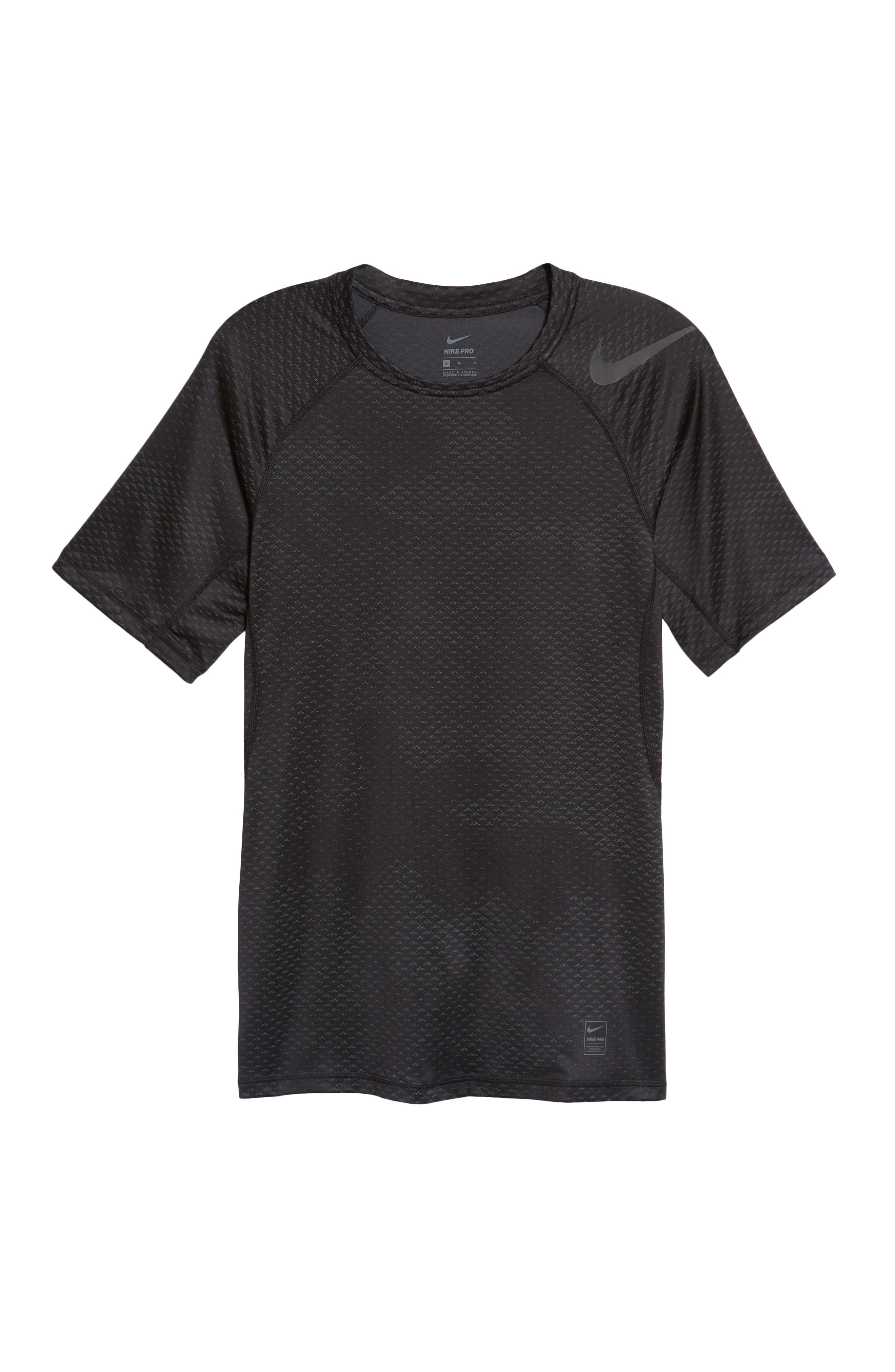 Pro HyperCool Fitted Crewneck T-Shirt,                             Alternate thumbnail 6, color,                             010