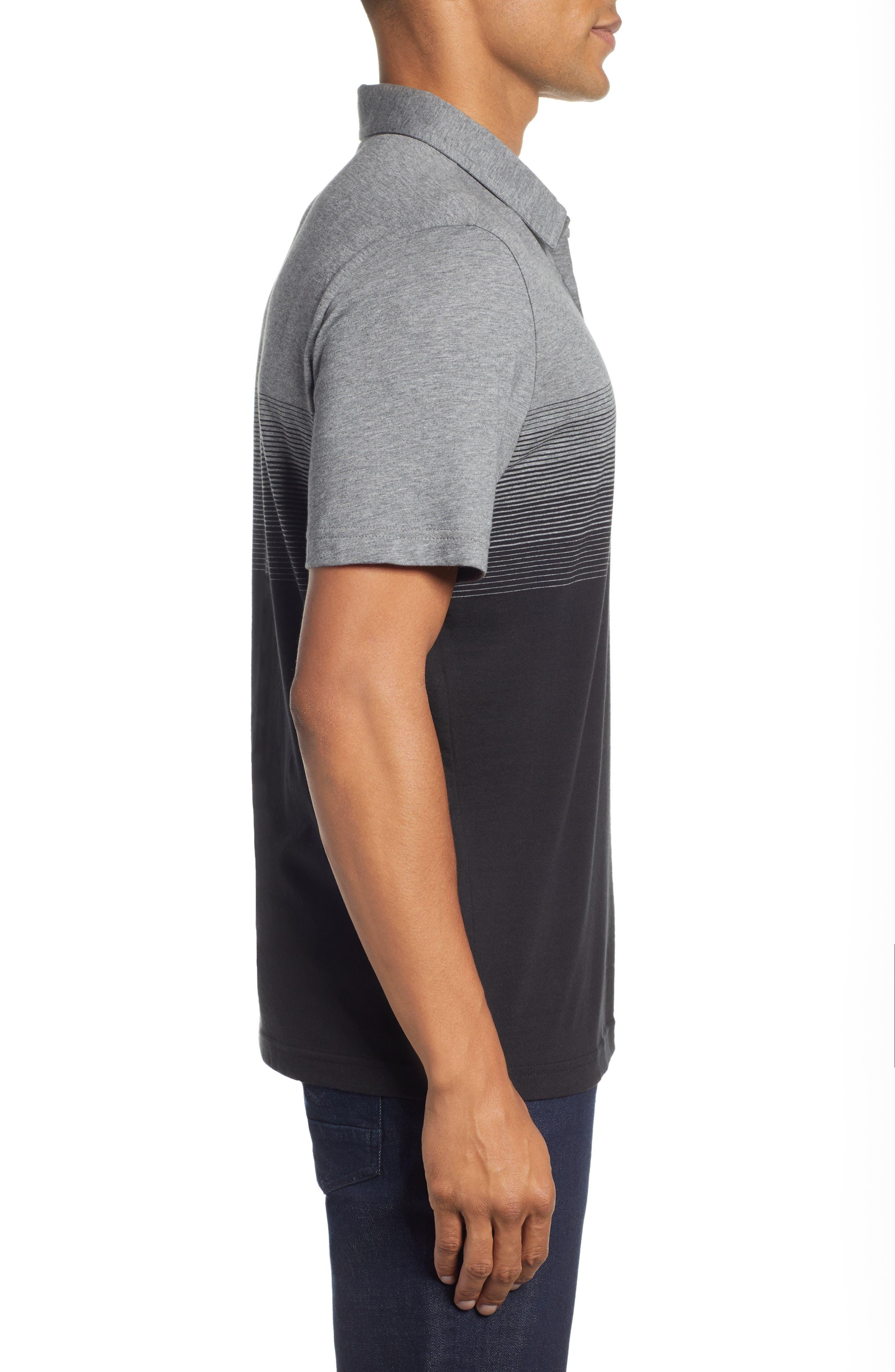 Smoothie Machine Short Sleeve Regular Fit Polo Shirt,                             Alternate thumbnail 3, color,                             BLACK