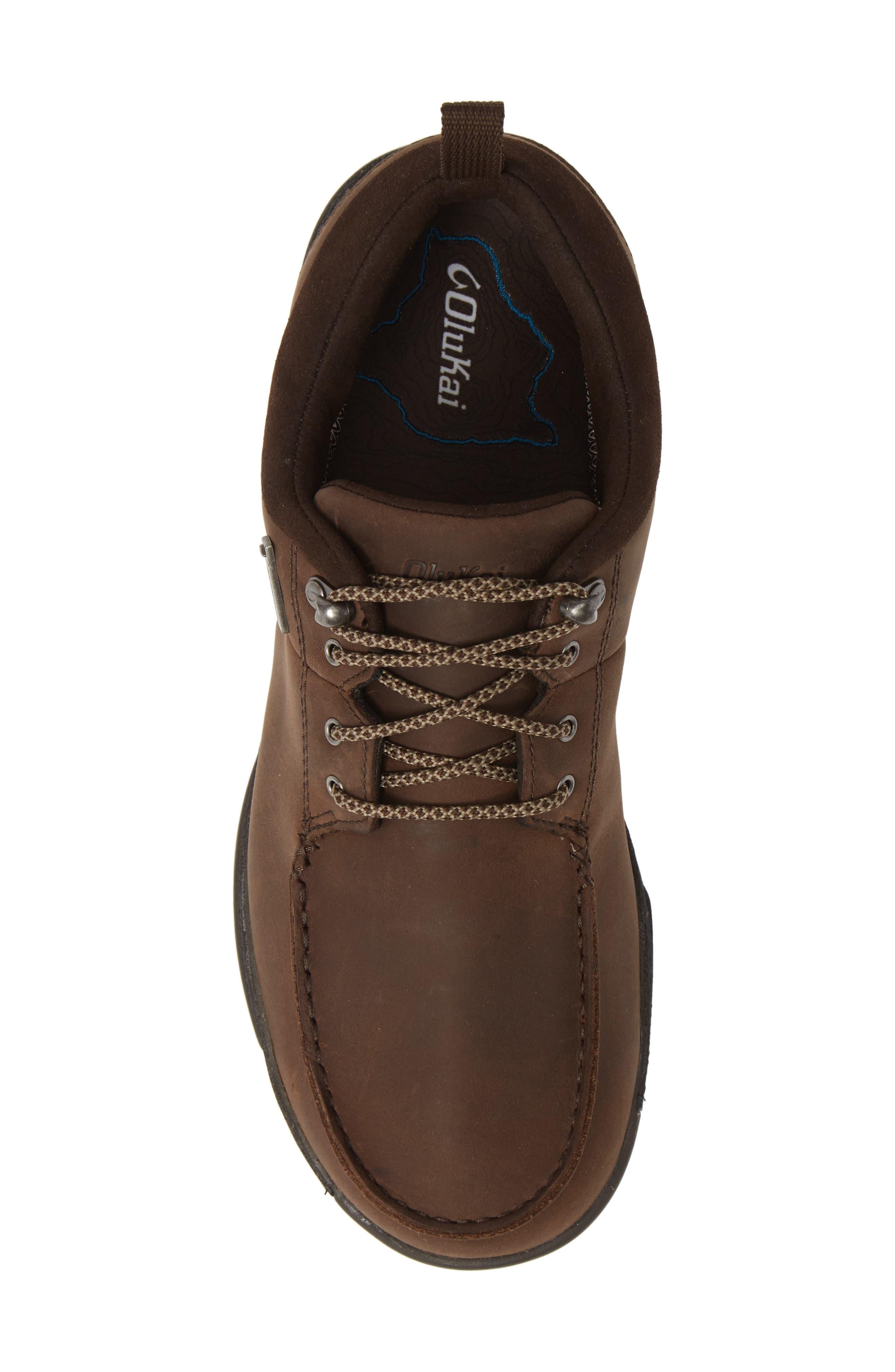 Makoa Waterproof Shoe,                             Alternate thumbnail 5, color,                             ESPRESSO/ BLACK LEATHER