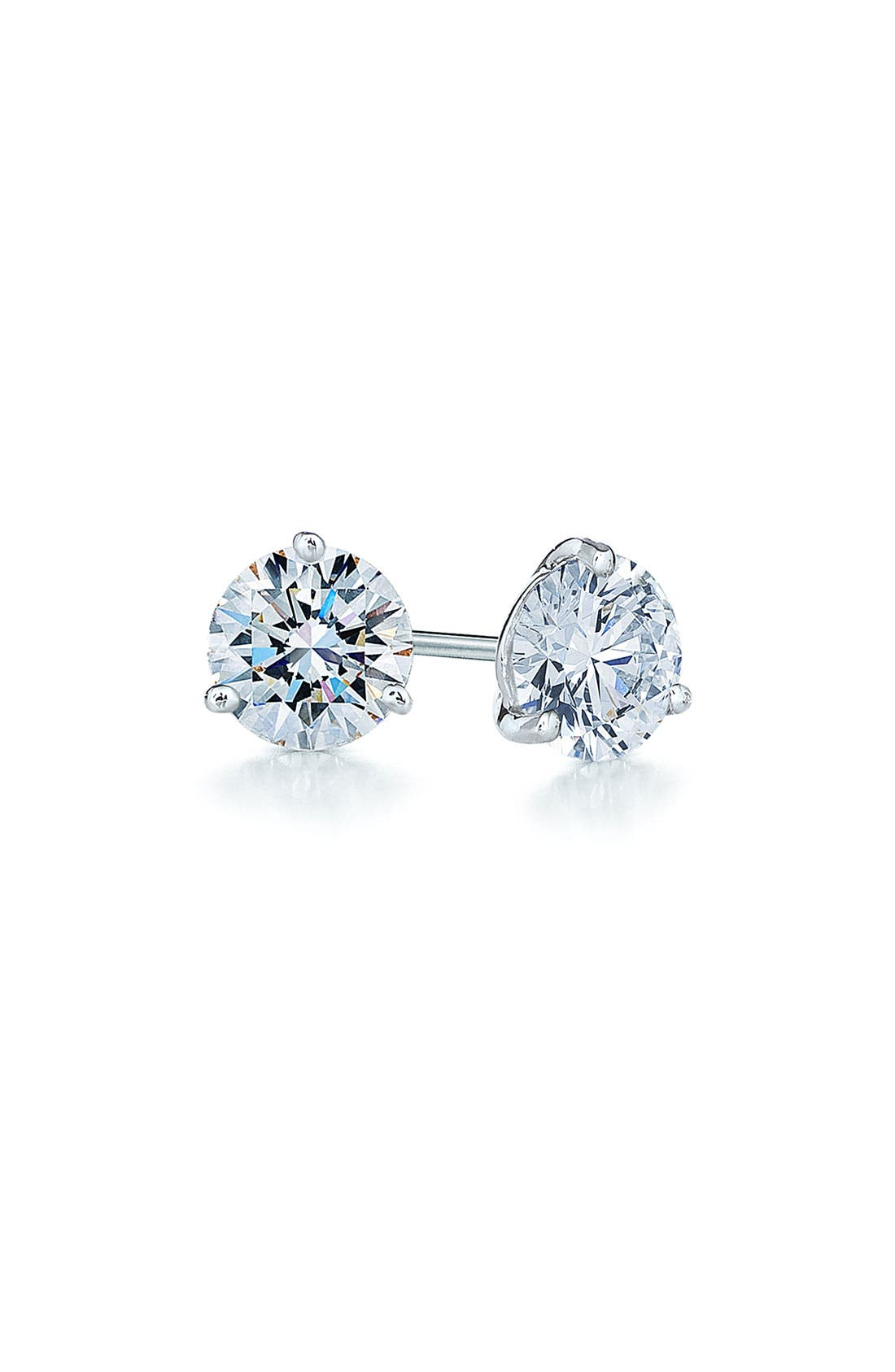0.25ct tw Diamond & Platinum Stud Earrings,                             Main thumbnail 1, color,                             PLATINUM