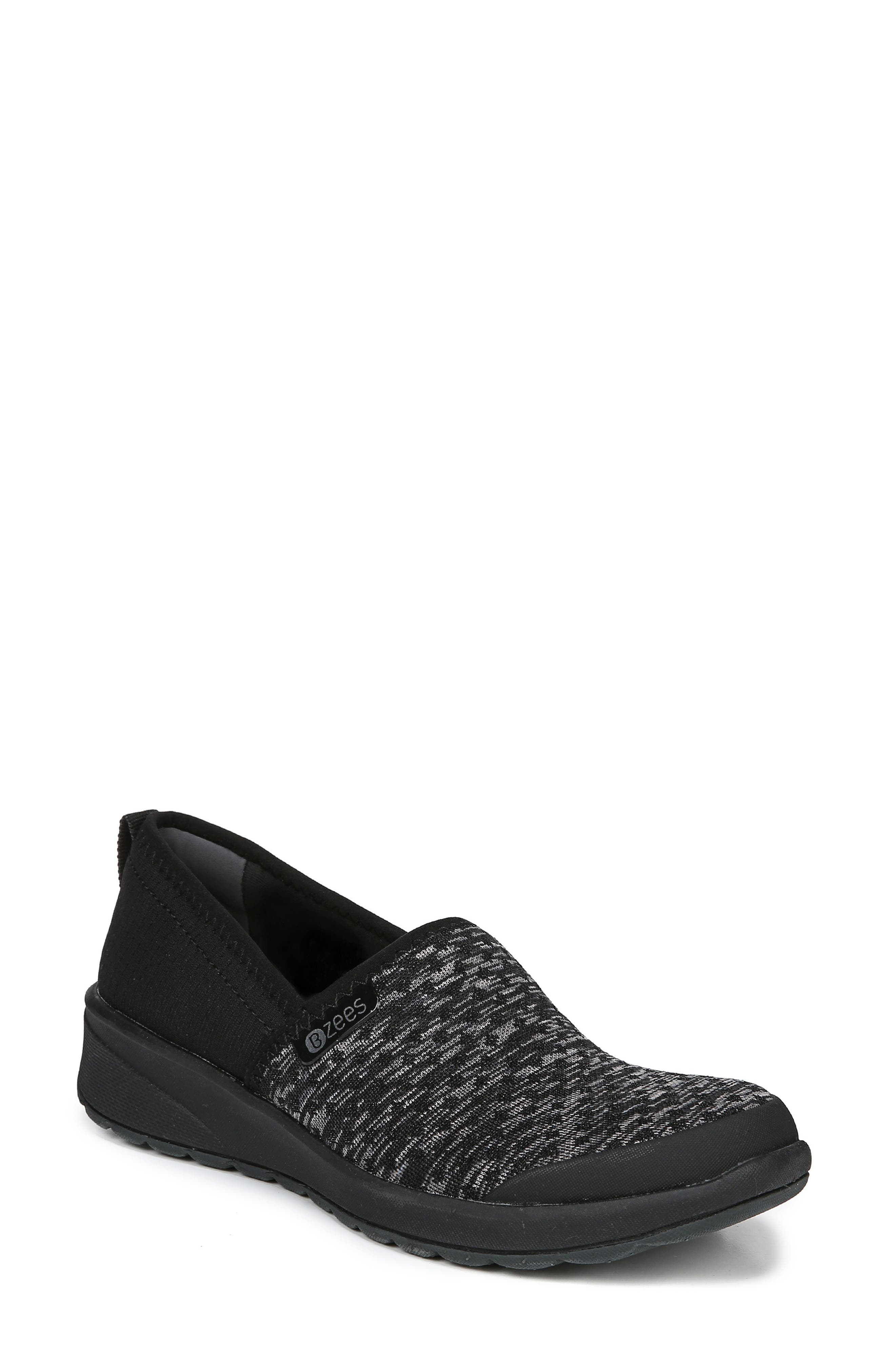 Glee Slip-On Sneaker,                         Main,                         color, BLACK DOT HEATHER FABRIC