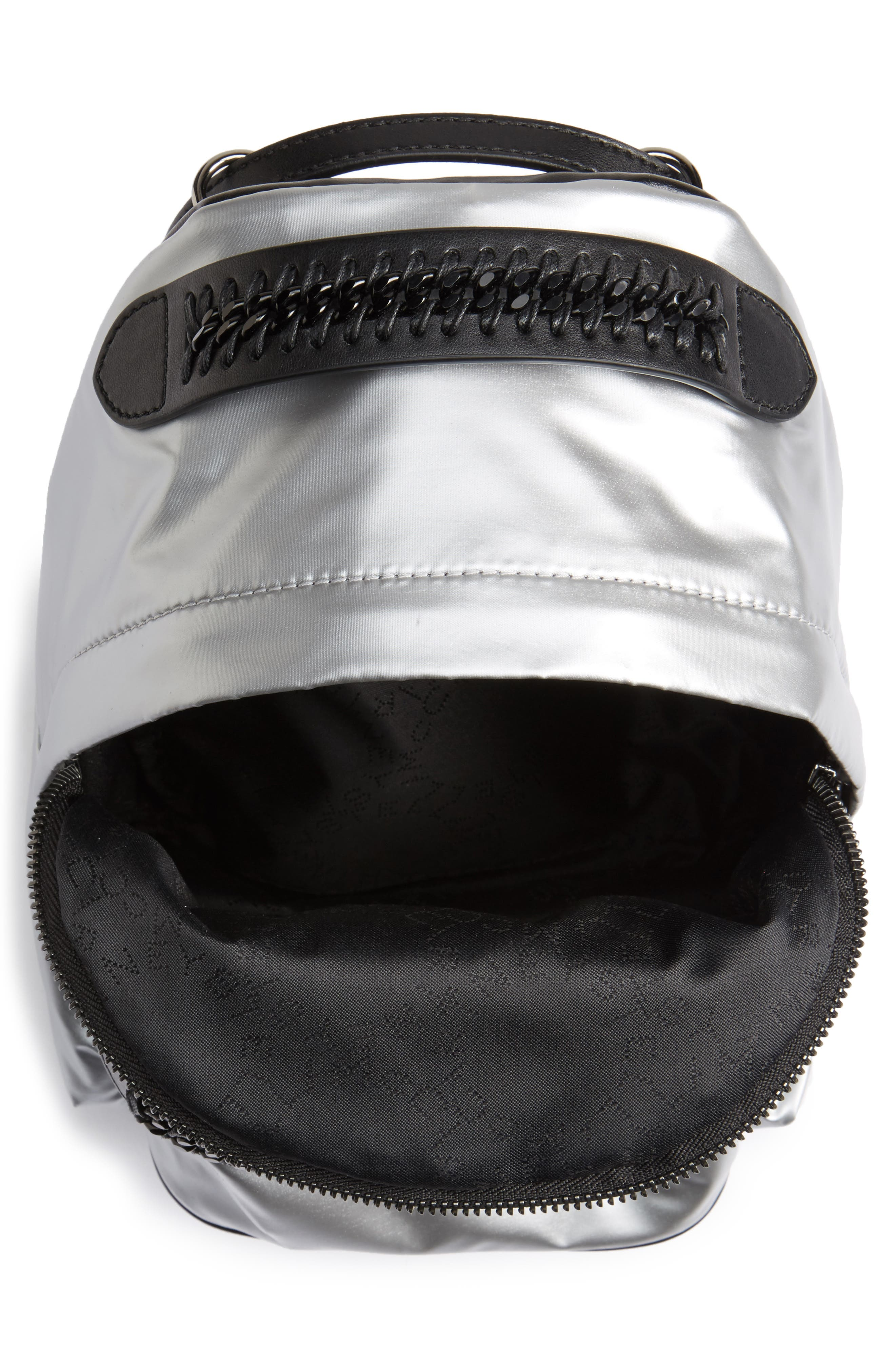 Mini Metallic Nylon Backpack,                             Alternate thumbnail 4, color,                             045