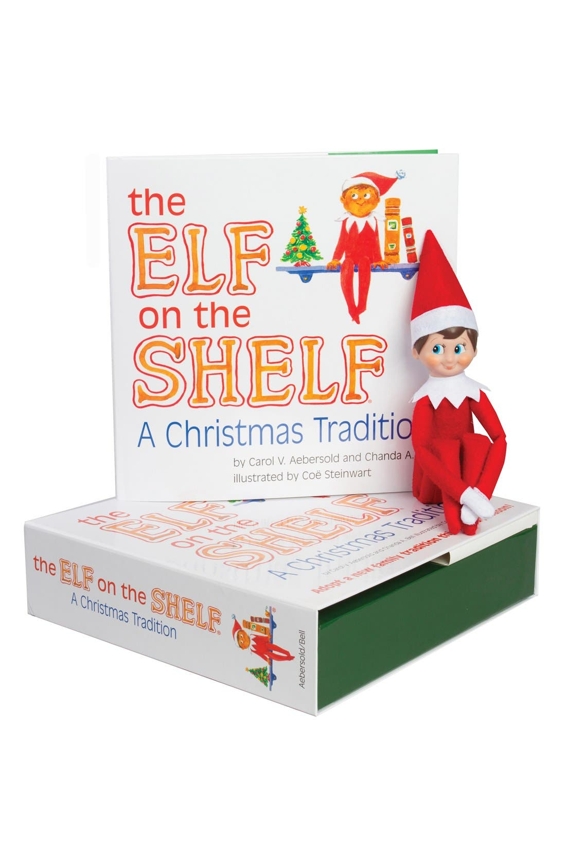 Carol Aebersold and Chanda Bell 'The Elf on the Shelf<sup>®</sup>: A Christmas Tradition<sup>™</sup>' Book & Elf,                         Main,                         color, LIGHT SKIN BOY ELF