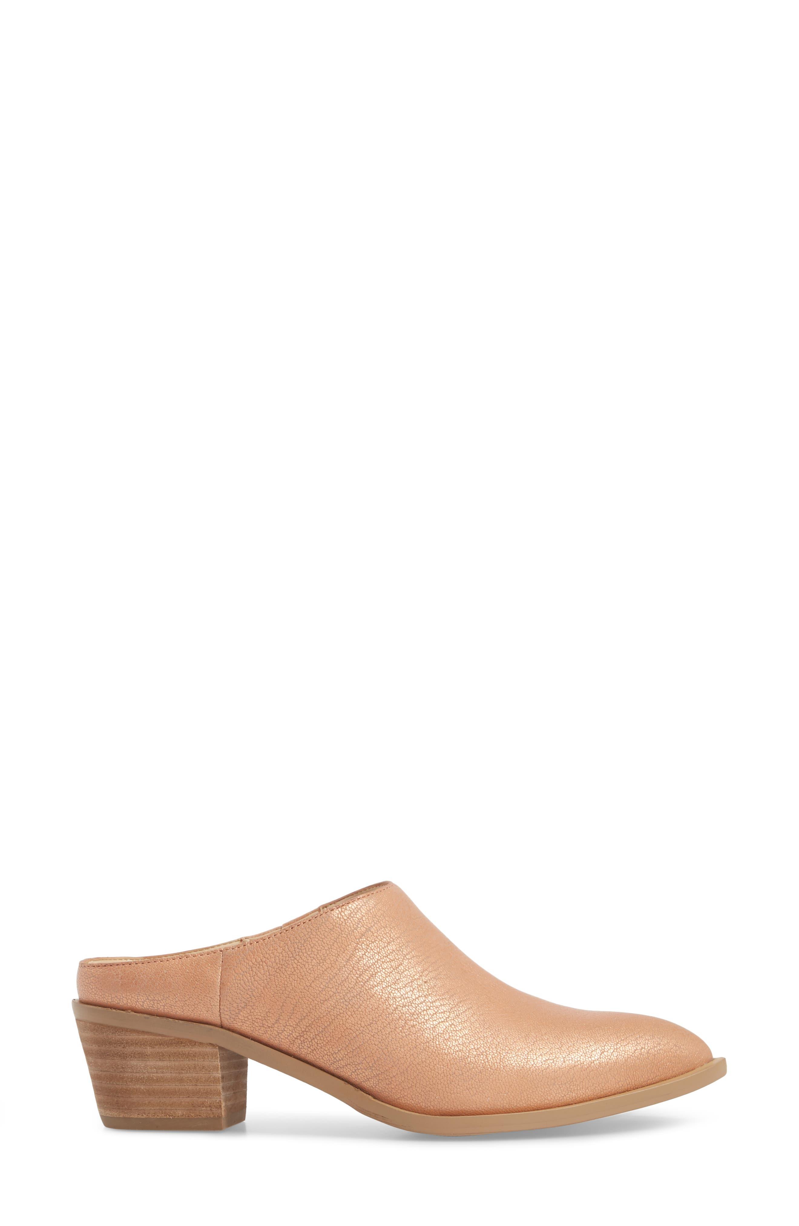 Nandina Genuine Calf Hair Block Heel Mule,                             Alternate thumbnail 3, color,                             BLUSH