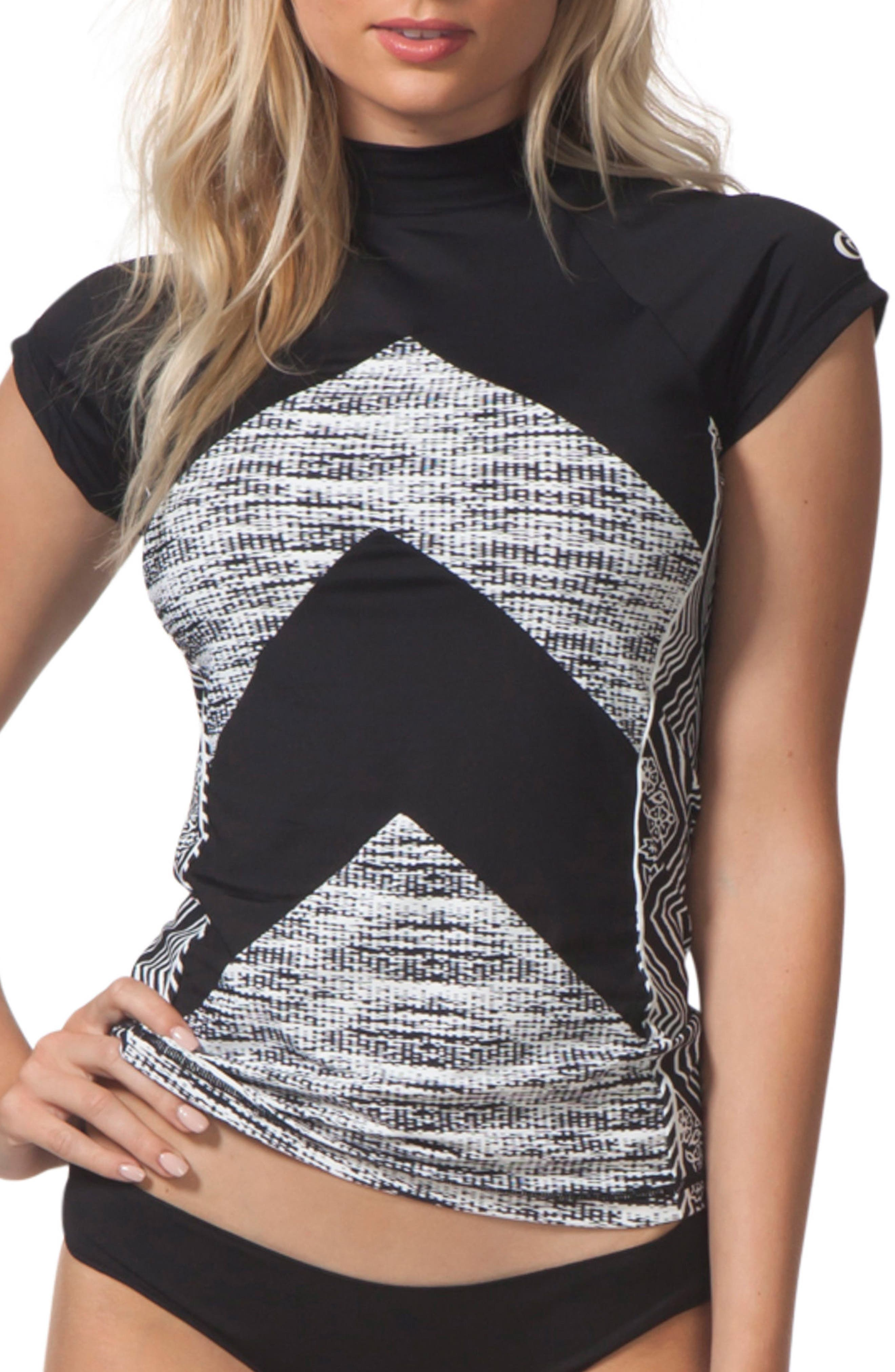 Black Sands Rashguard Top,                         Main,                         color, 001