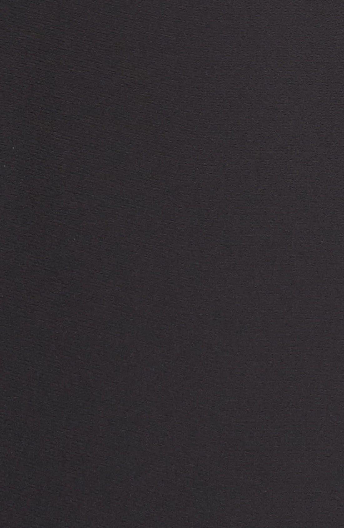 Stretch Cady Midi Tank Dress,                             Alternate thumbnail 5, color,                             001