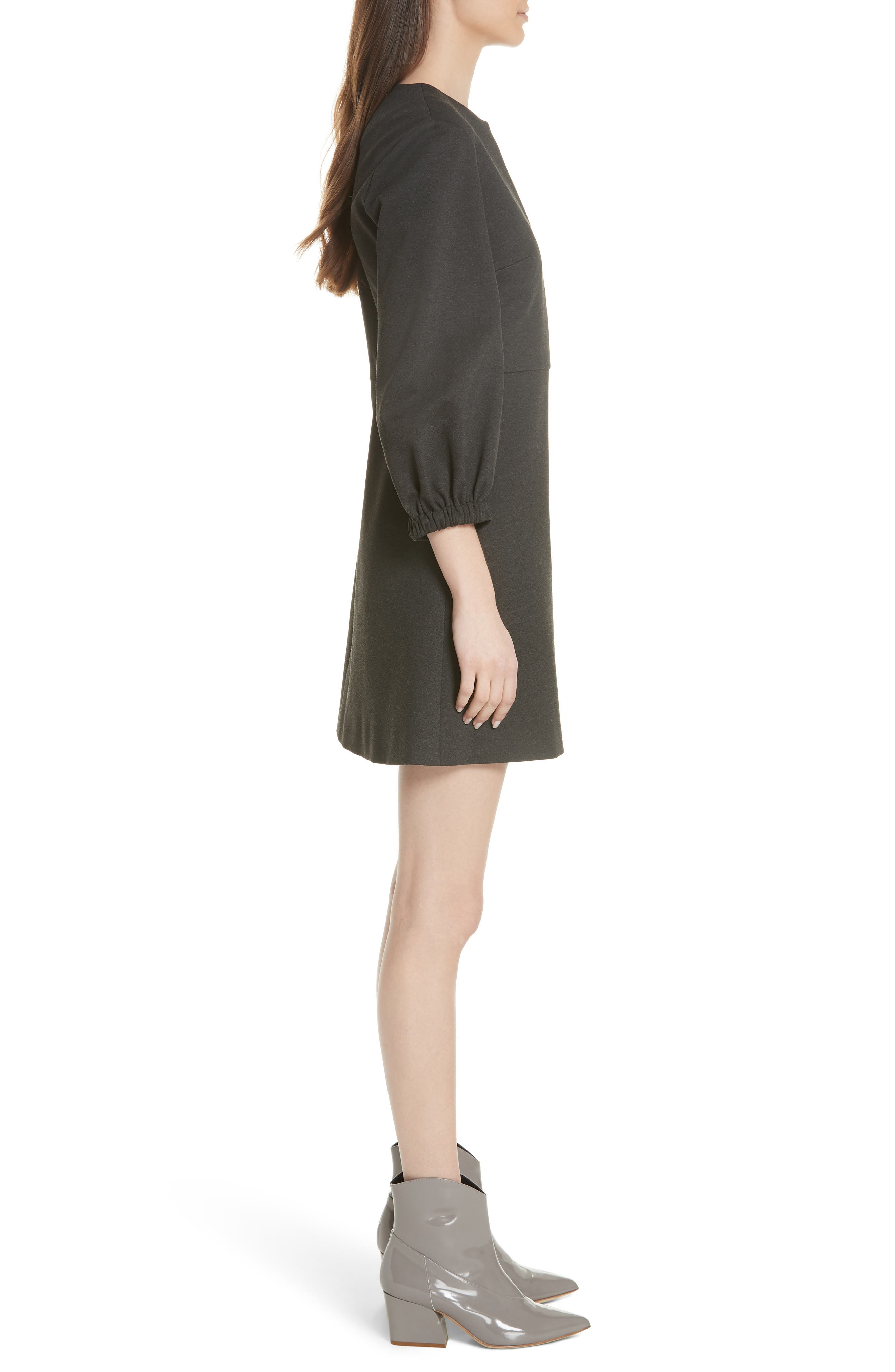 Bond Stretch Knit Puff Sleeve Dress,                             Alternate thumbnail 3, color,                             033