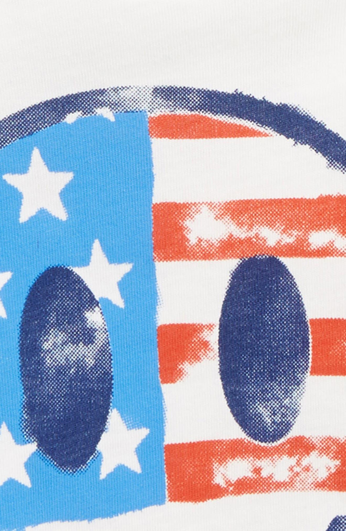 Smiley Face Flag T-Shirt,                             Alternate thumbnail 3, color,                             906