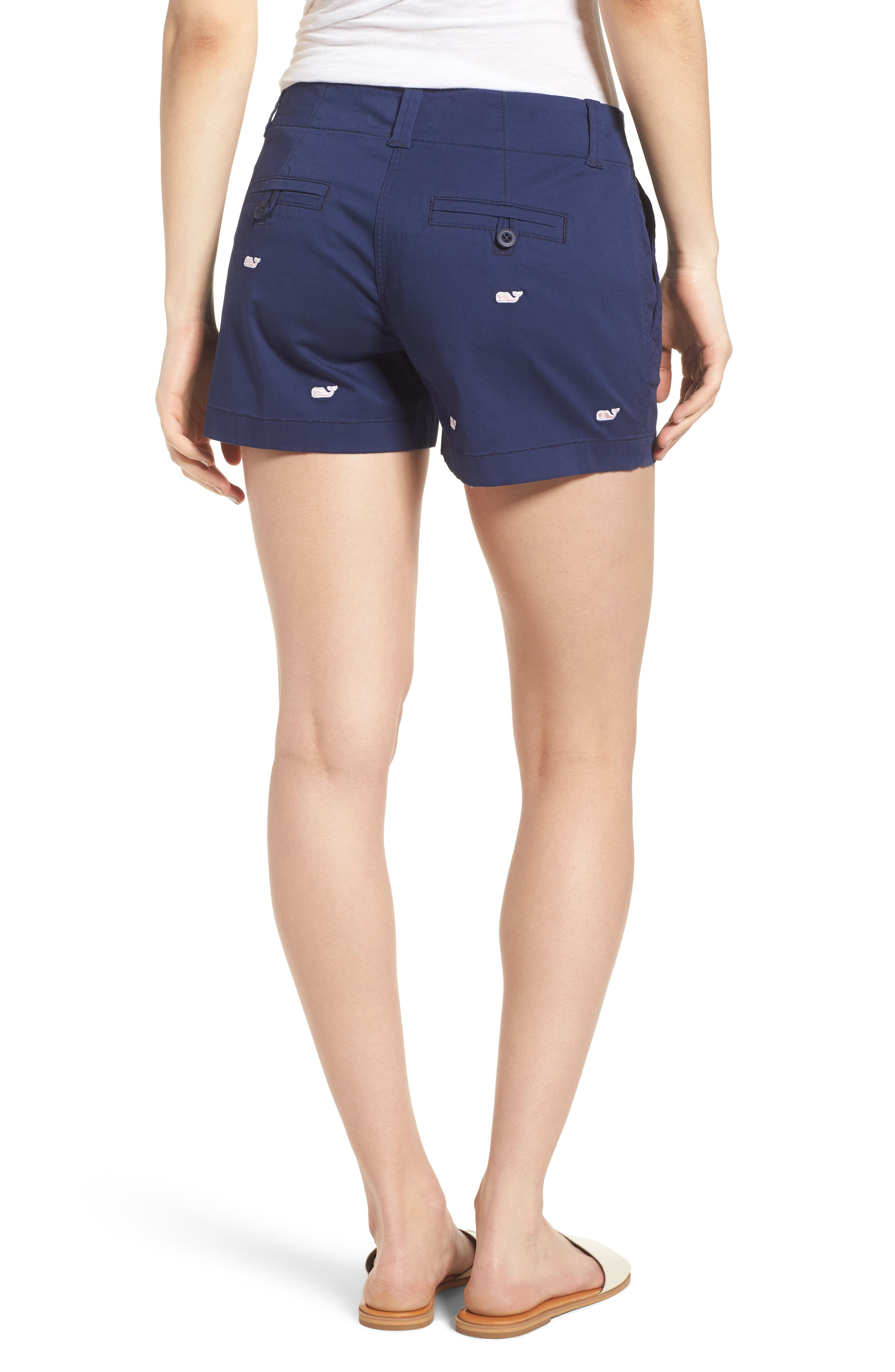 Whale Embroidered Chino Shorts,                             Alternate thumbnail 2, color,                             476