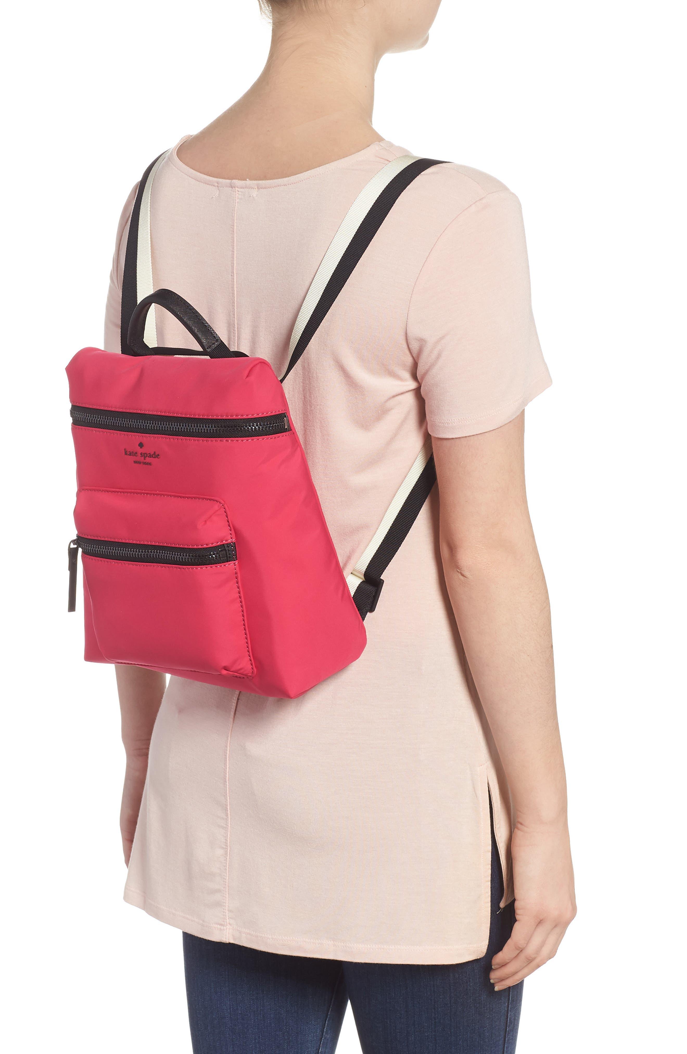 that's the spirit mini nylon convertible backpack,                             Alternate thumbnail 2, color,                             KINETIC PINK