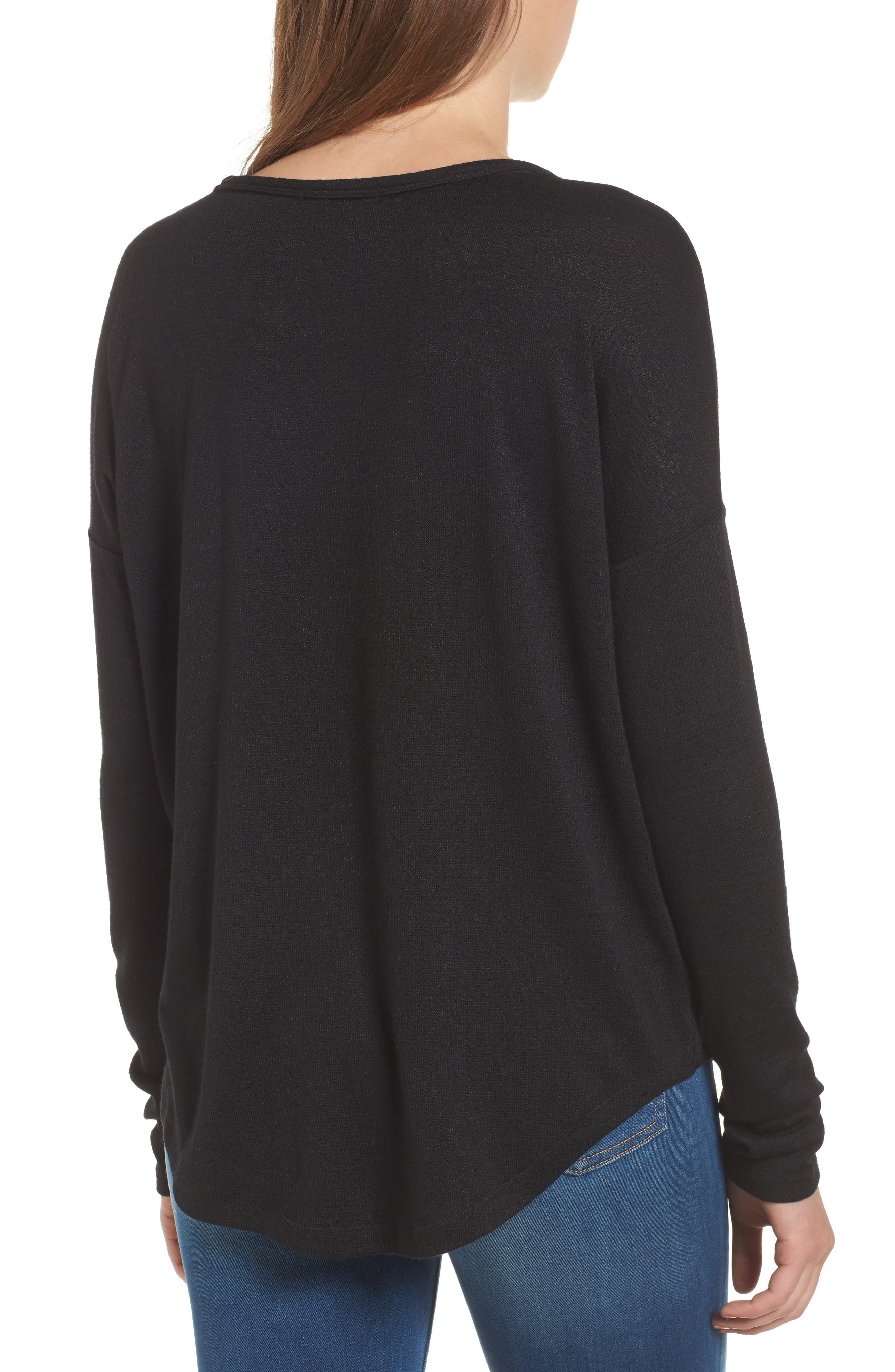 rag & bone Hudson Tee,                             Alternate thumbnail 2, color,                             BLACK