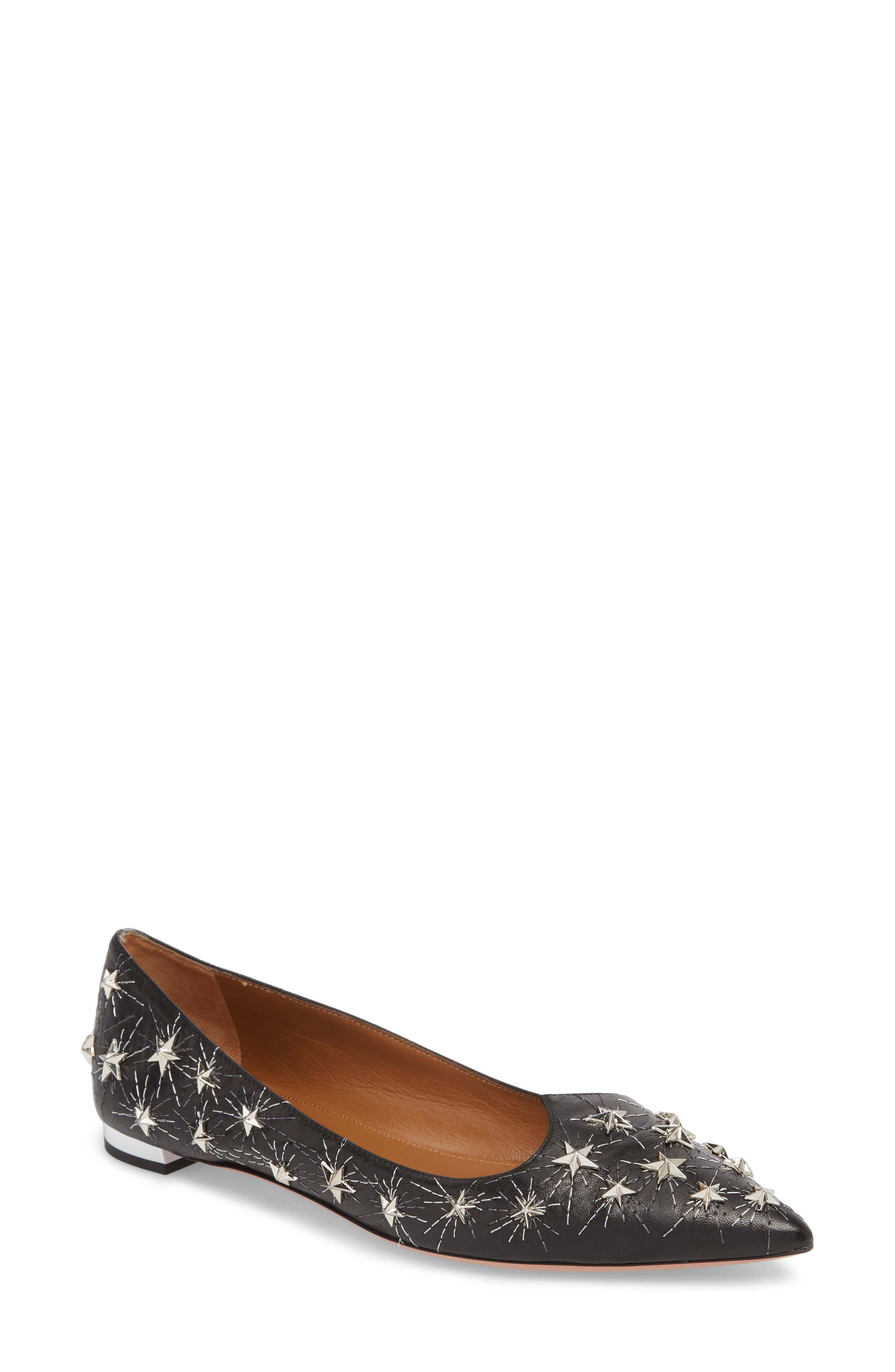 Cosmic Star Pointy Toe Flat,                         Main,                         color, 001
