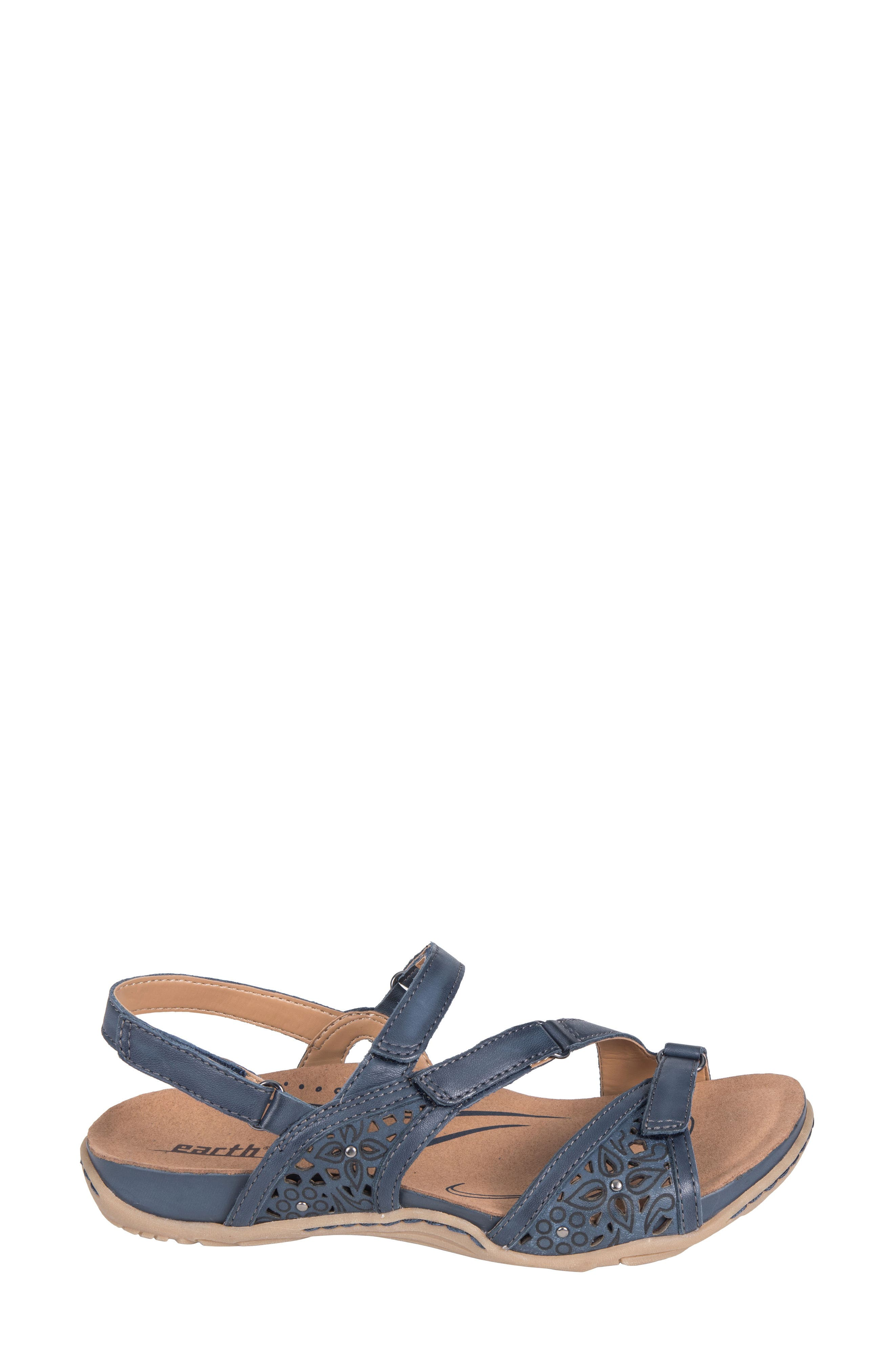 Maui Strappy Sandal,                             Alternate thumbnail 3, color,                             INDIGO BLUE LEATHER