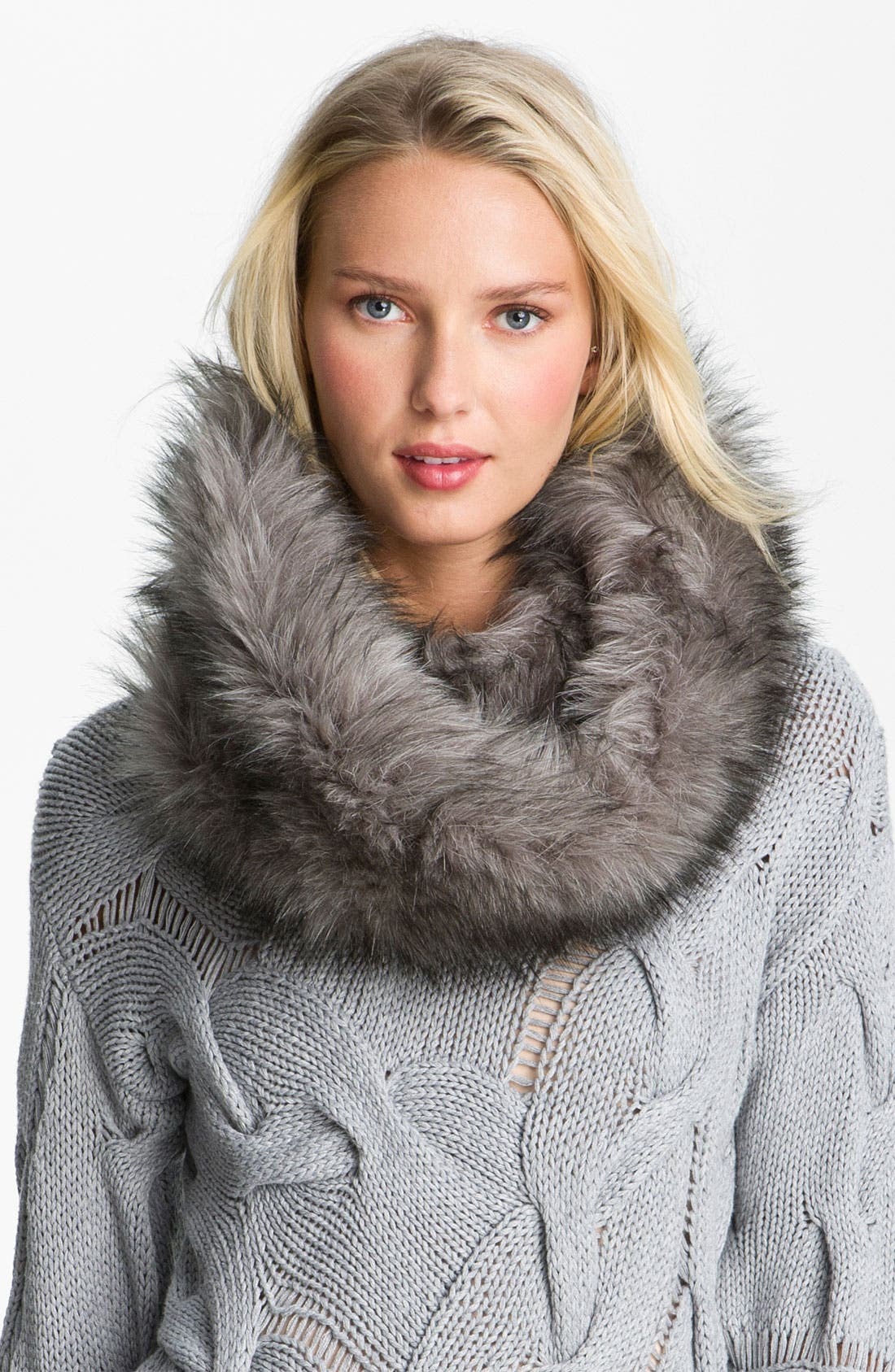 MICHAEL MICHAEL KORS Faux Fur Neck Warmer, Main, color, 020