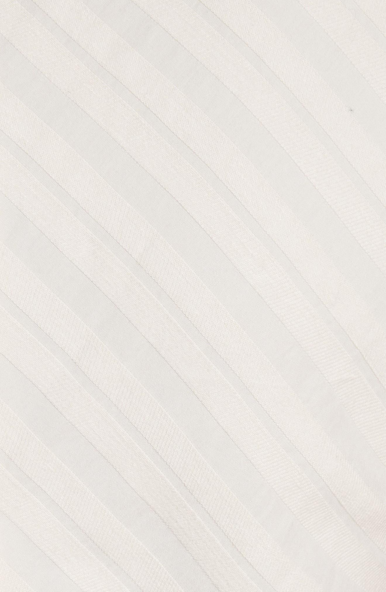 Textured Stripe Peplum Top,                             Alternate thumbnail 5, color,                             255