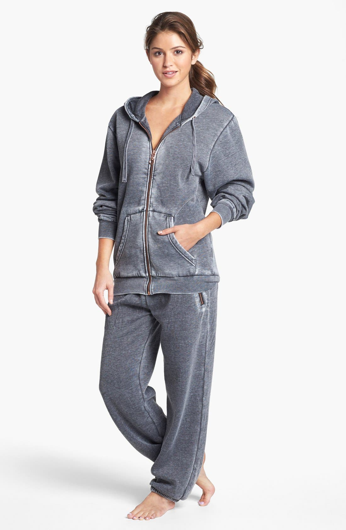 Full Zip Hooded Sweatshirt,                             Alternate thumbnail 4, color,                             020