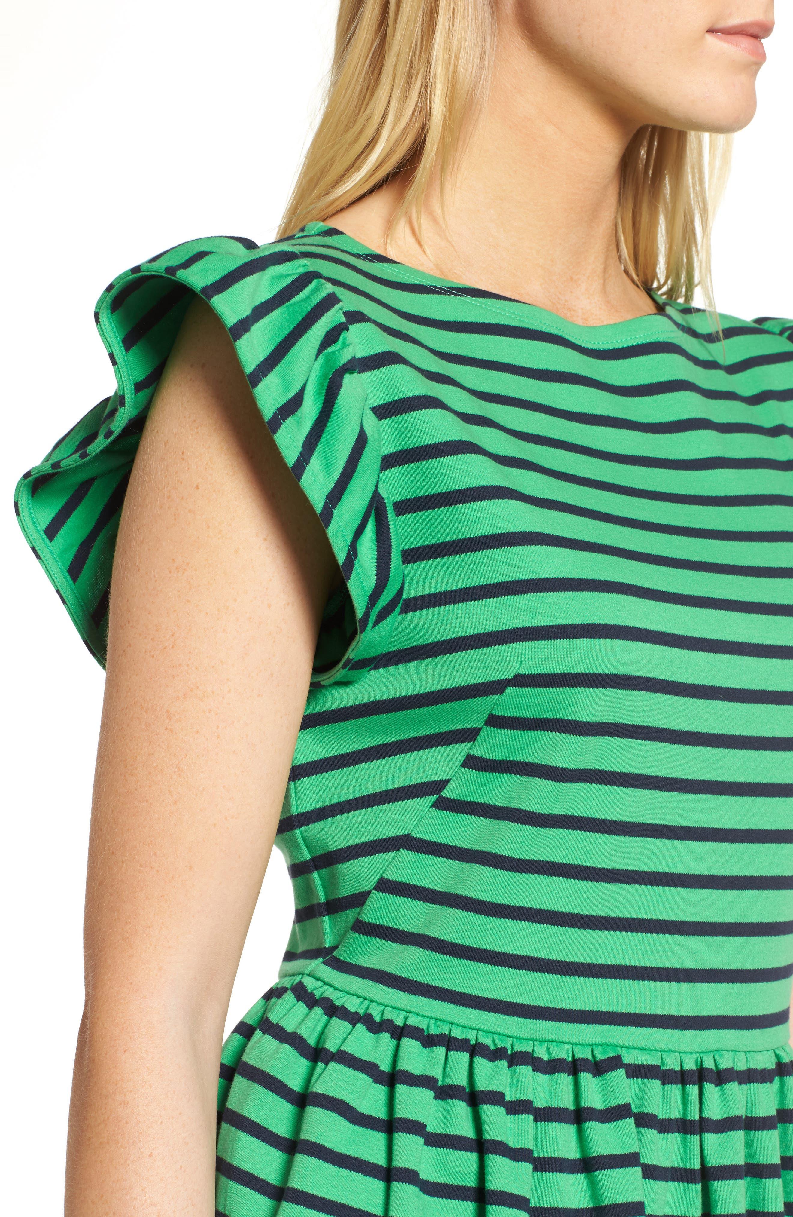Stripe Knit Peplum Top,                             Alternate thumbnail 13, color,