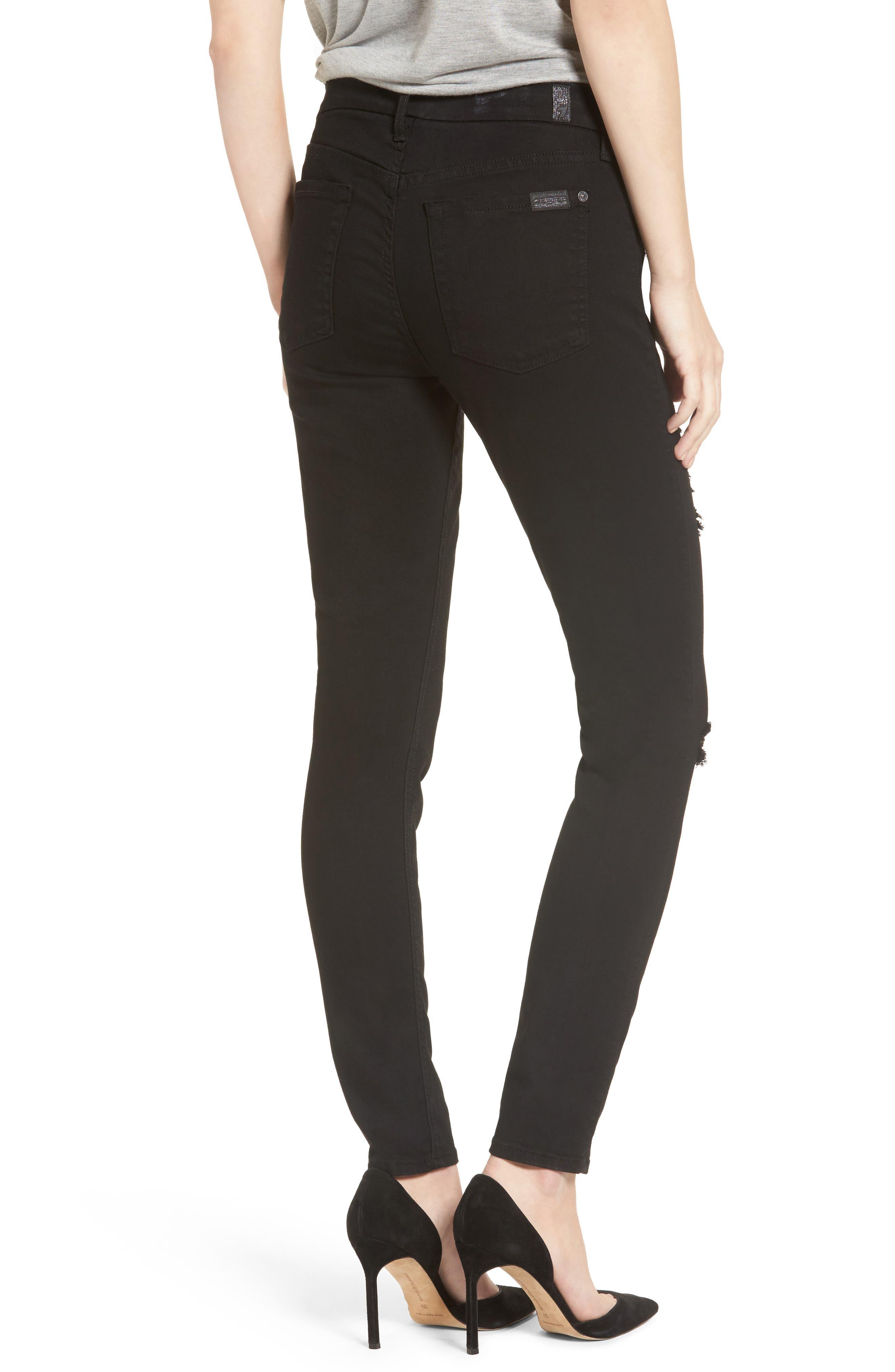b(air) Ankle Skinny Jeans,                             Alternate thumbnail 2, color,                             BAIR BLACK 3