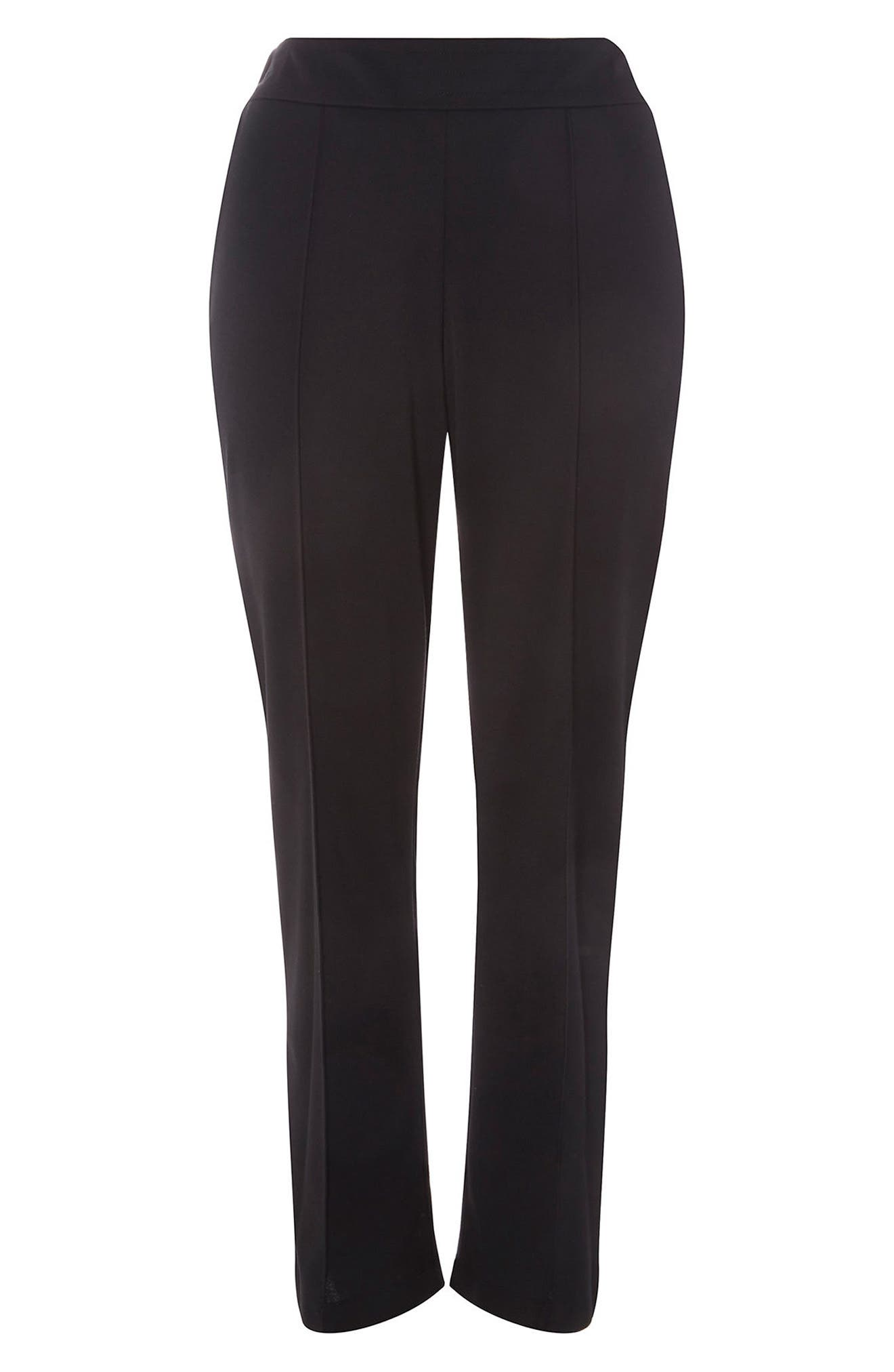 Ponte Slim Leg Trousers,                             Alternate thumbnail 4, color,                             001