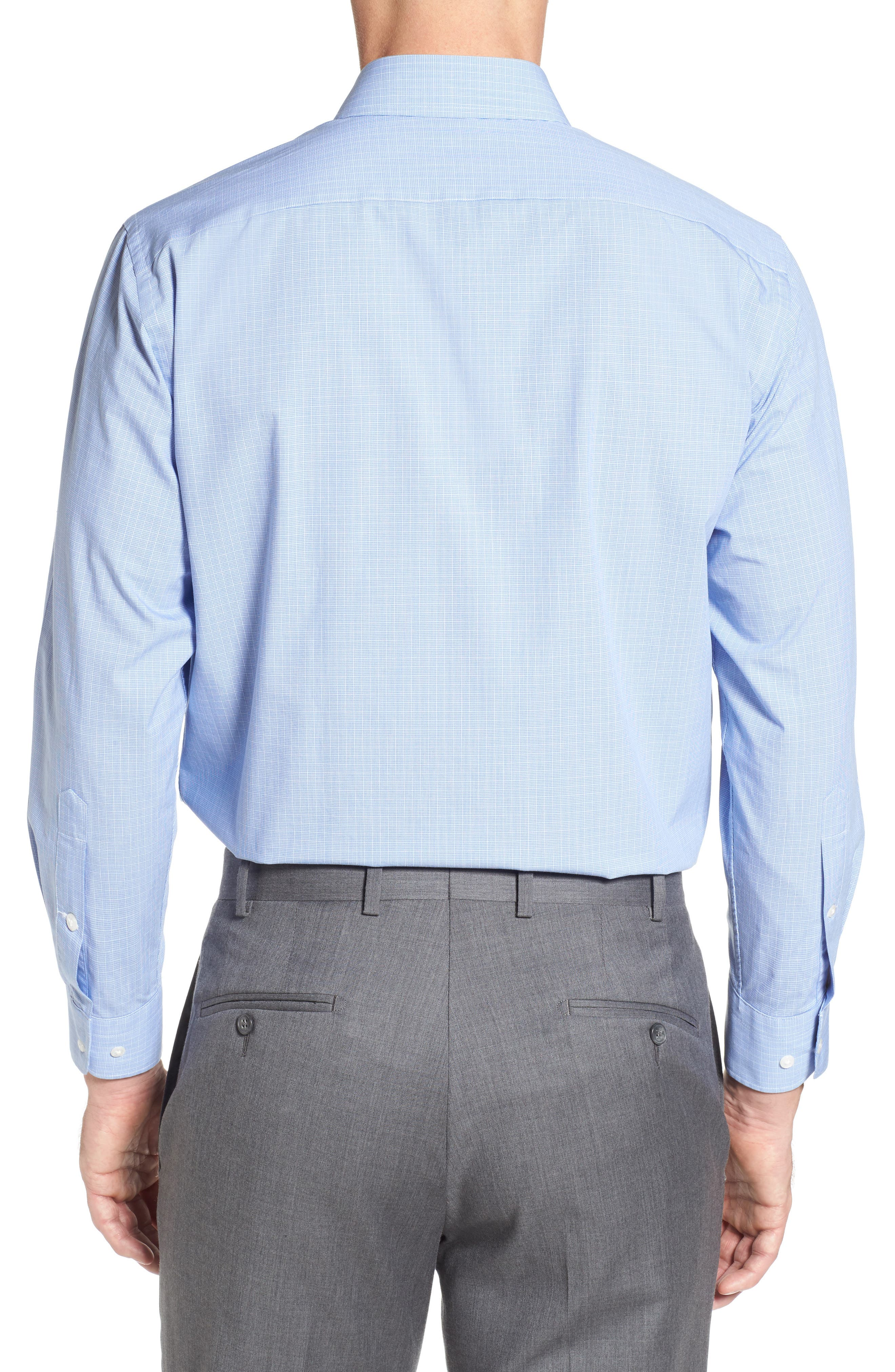 Tech-Smart Traditional Fit Stretch Check Dress Shirt,                             Alternate thumbnail 2, color,                             450