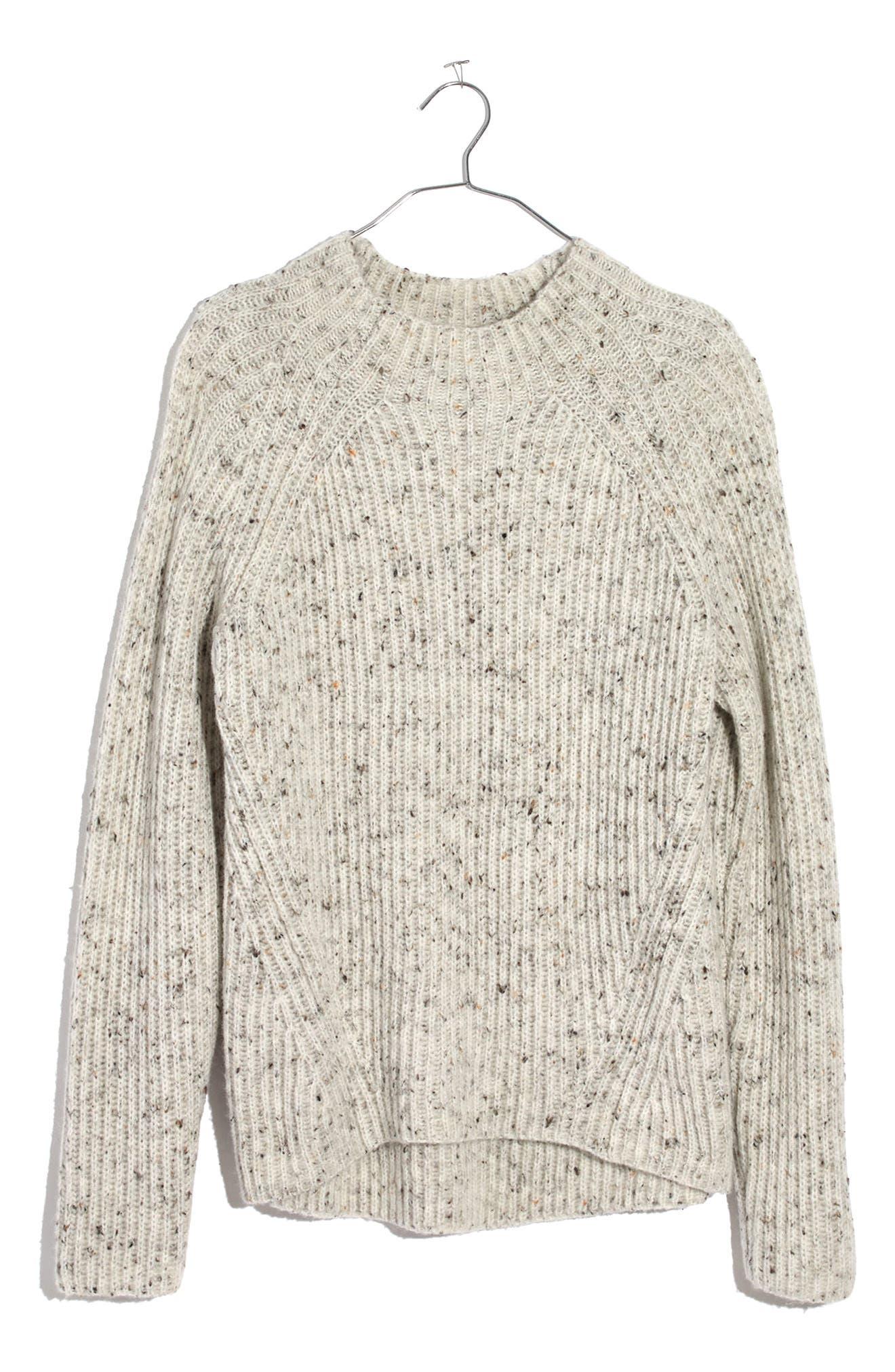 Donegal Northfield Mockneck Sweater,                             Alternate thumbnail 3, color,                             100
