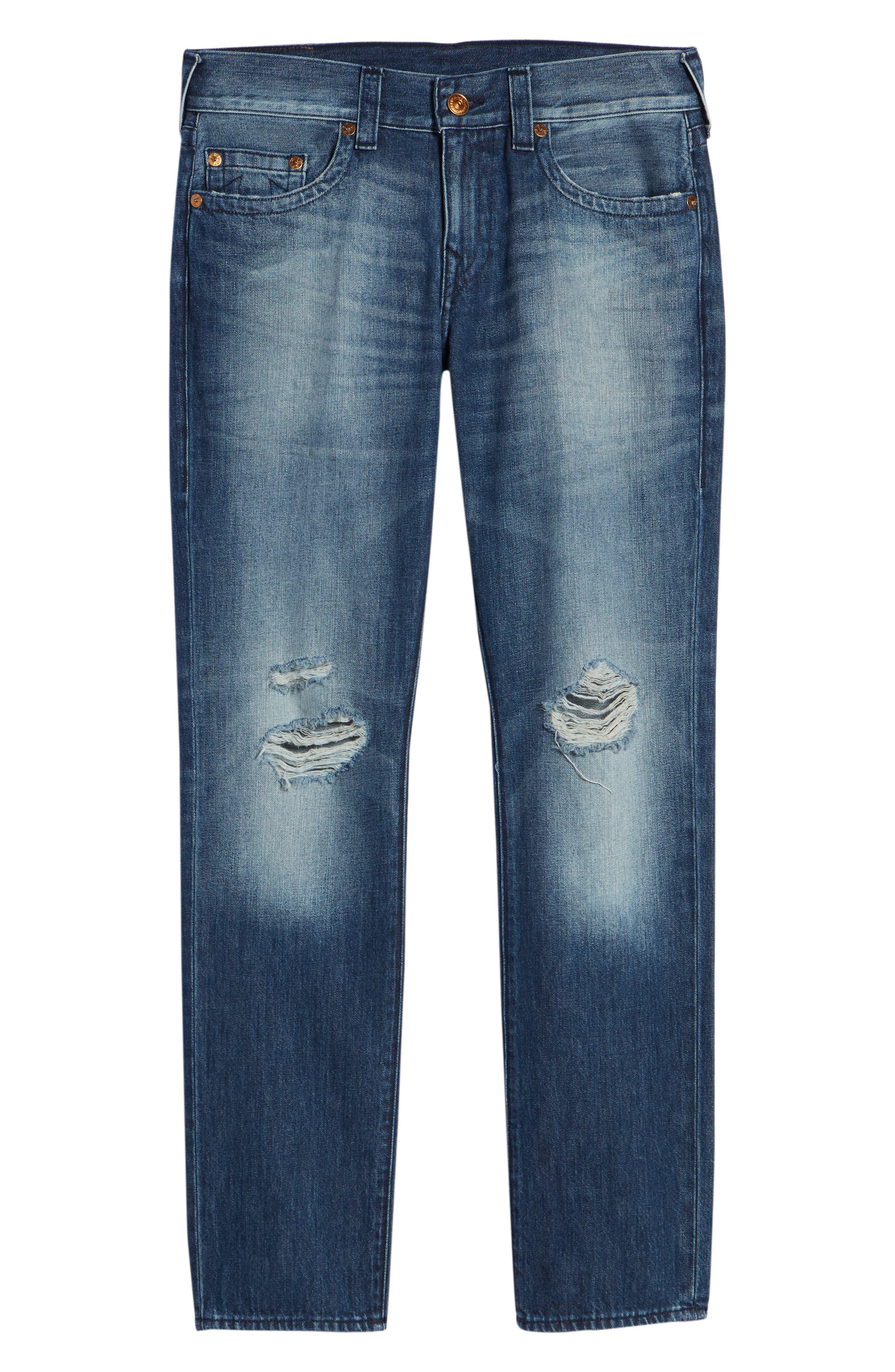 Geno Straight Leg Jeans,                             Alternate thumbnail 6, color,                             WORN SUSPECT