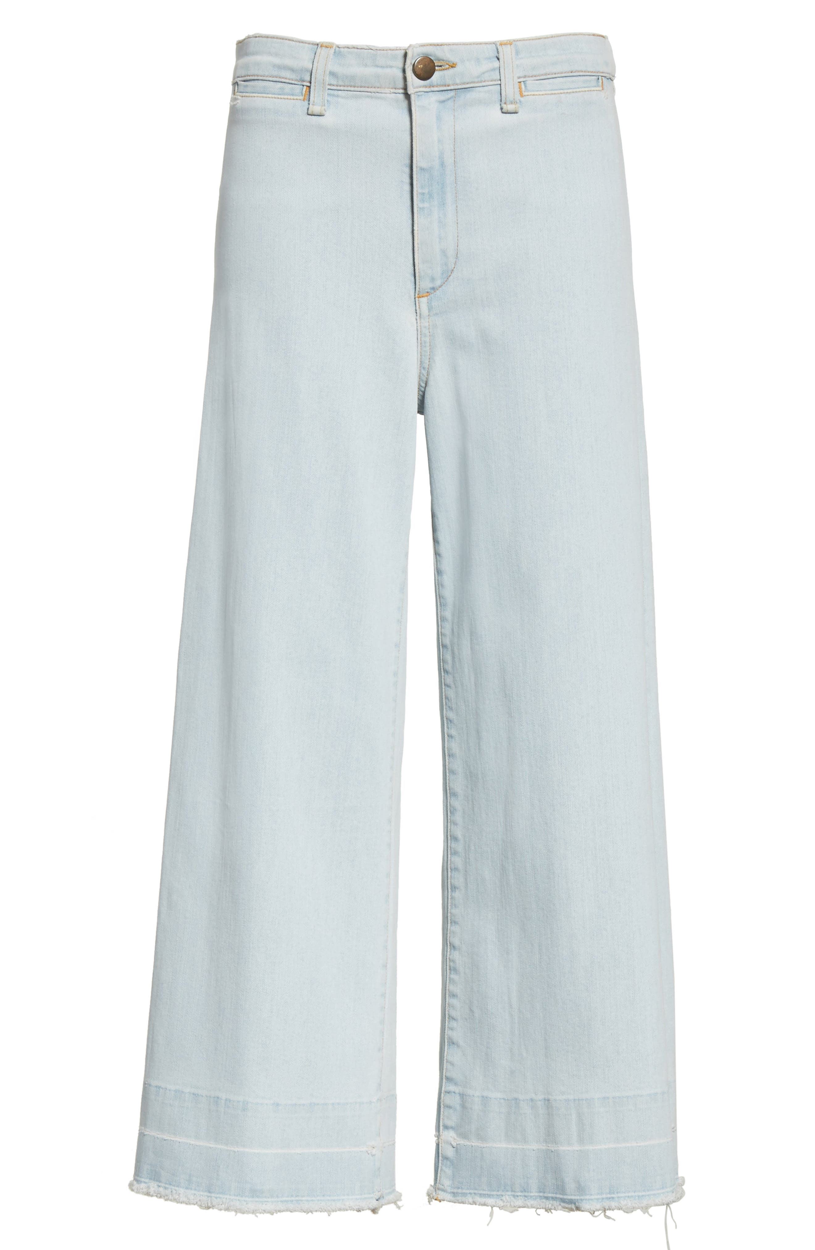 Ali High Waist Gaucho Jeans,                             Alternate thumbnail 6, color,                             400