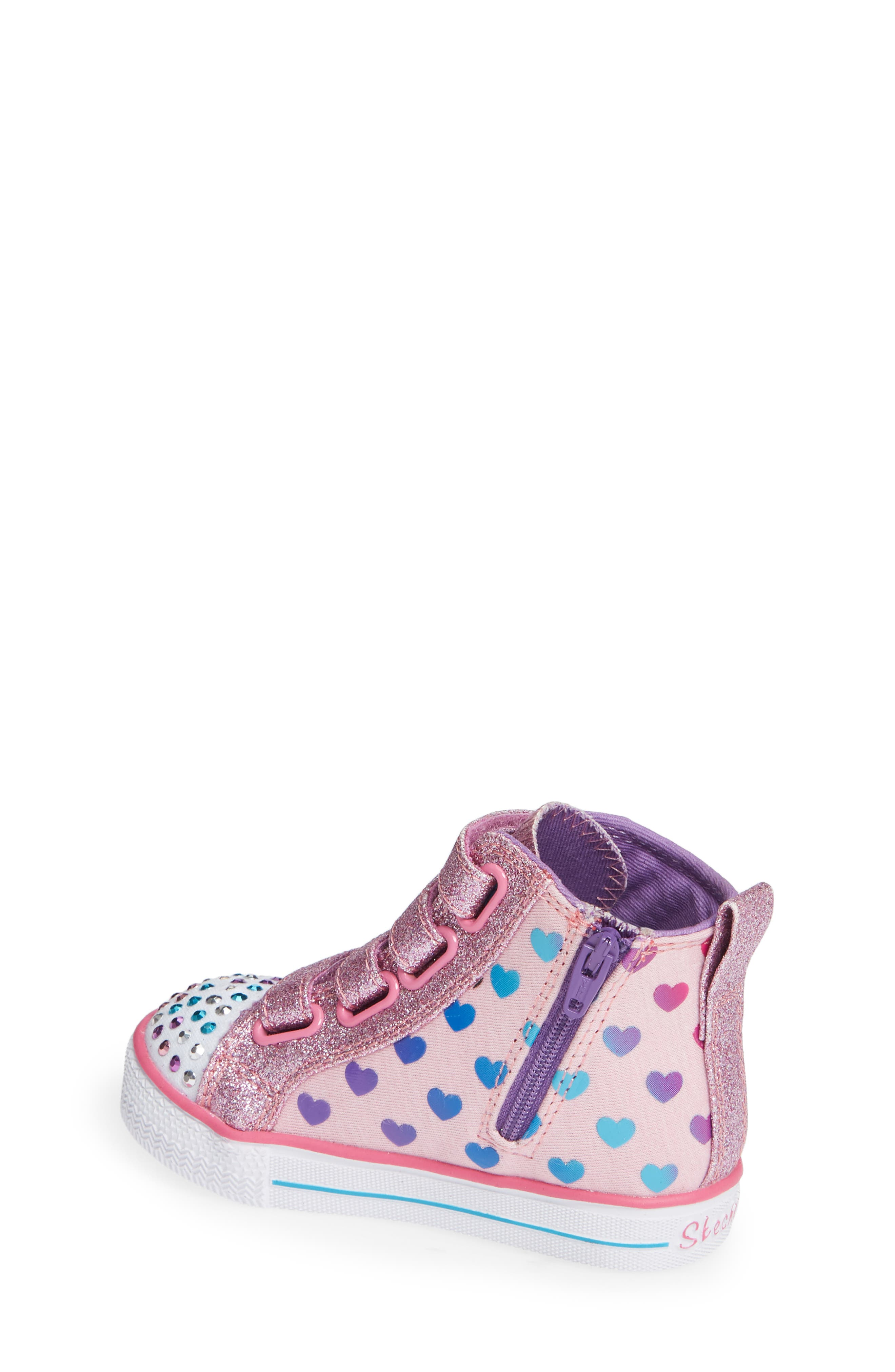 Shuffle Lite Fancy Flutters Light-Up High Top Sneaker,                             Alternate thumbnail 2, color,                             PINK/ MULTI