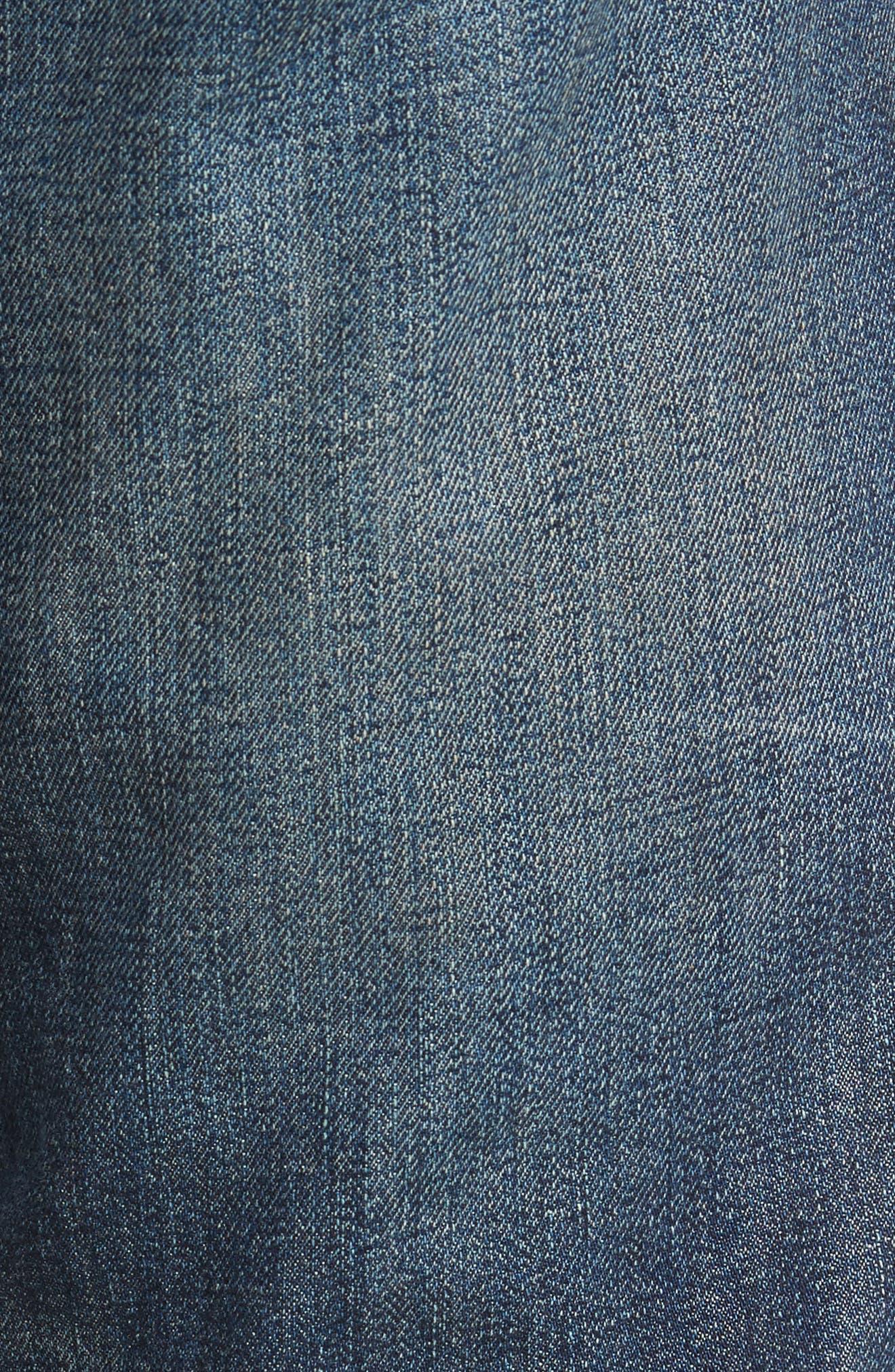 Geno Straight Leg Jeans,                             Alternate thumbnail 5, color,                             401