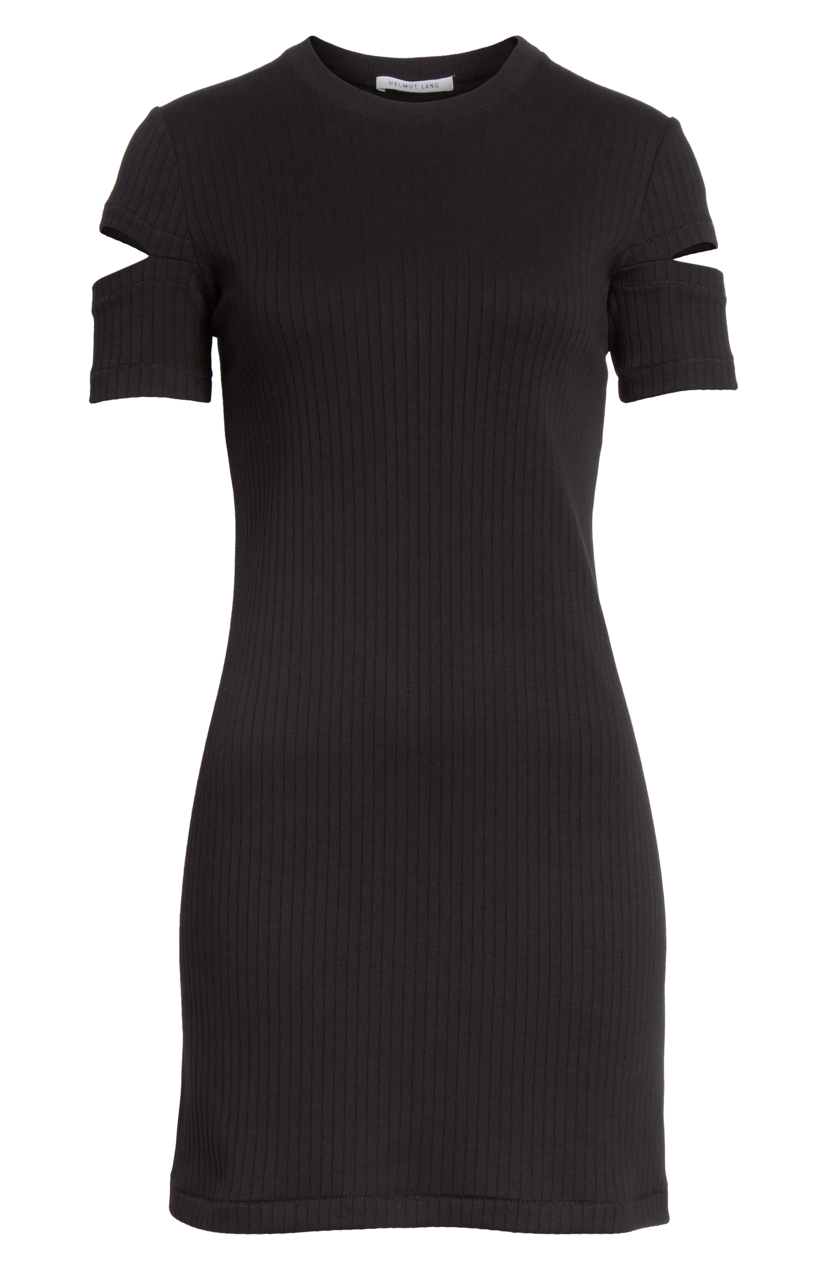 Ribbed Slash Sleeve Dress,                             Alternate thumbnail 6, color,